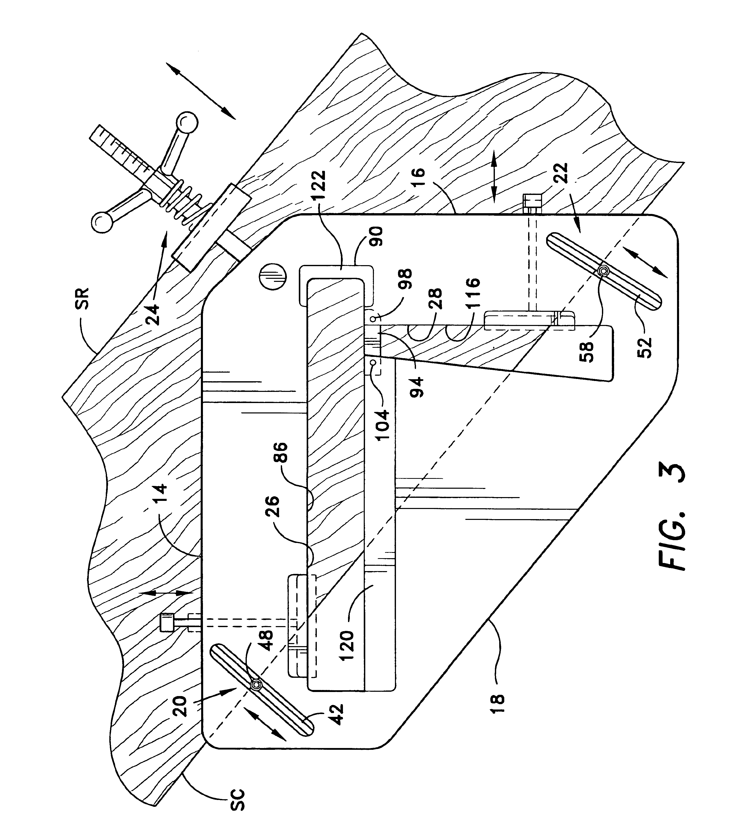 patent us6748668 - variable tread and rise router template for stairs stringer