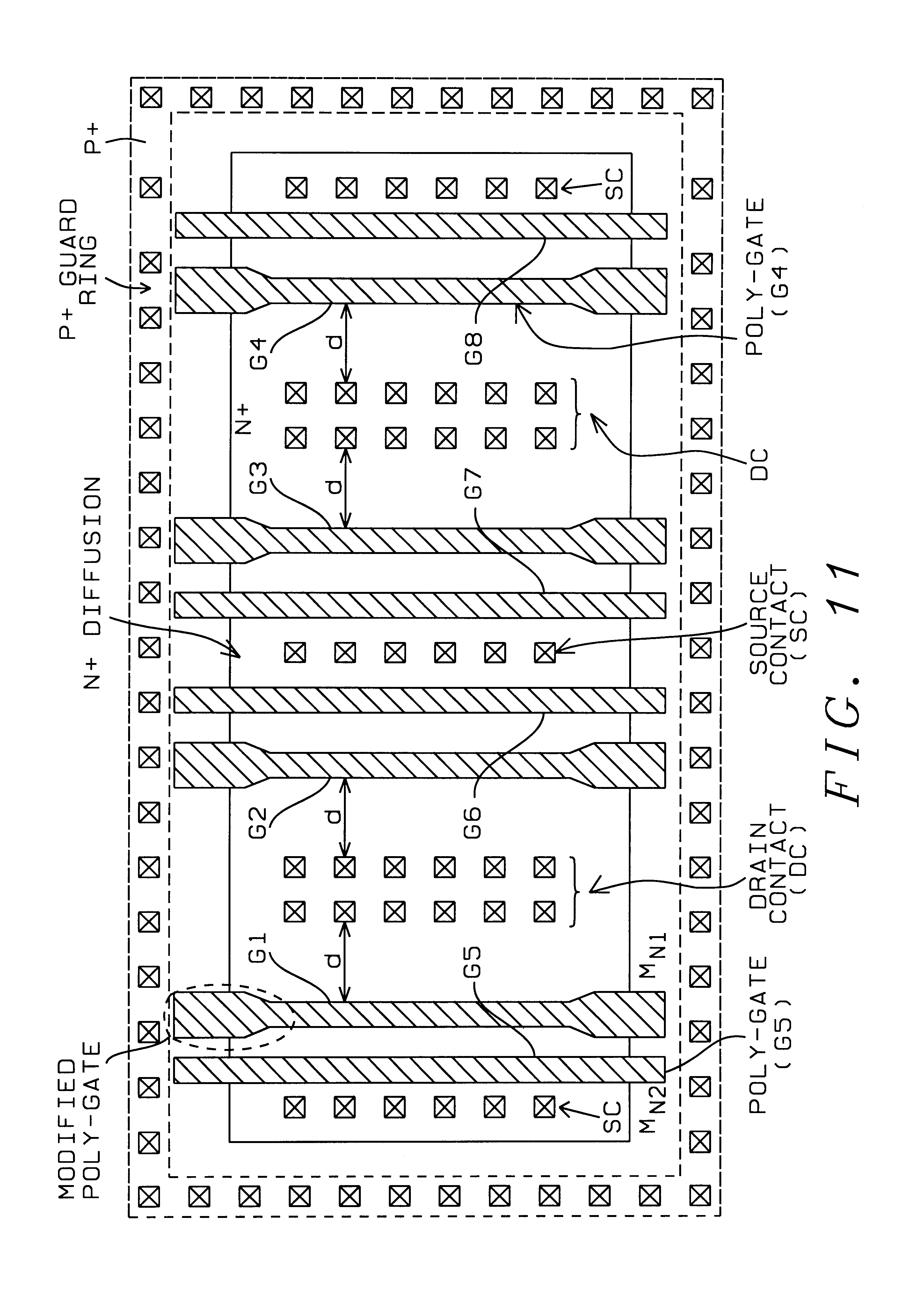 Patent Us6750517 Device Layout To Improve Esd Robustness In Deep Circuit Which Demonstrates The Use Of Transistors When A Finger Is Drawing