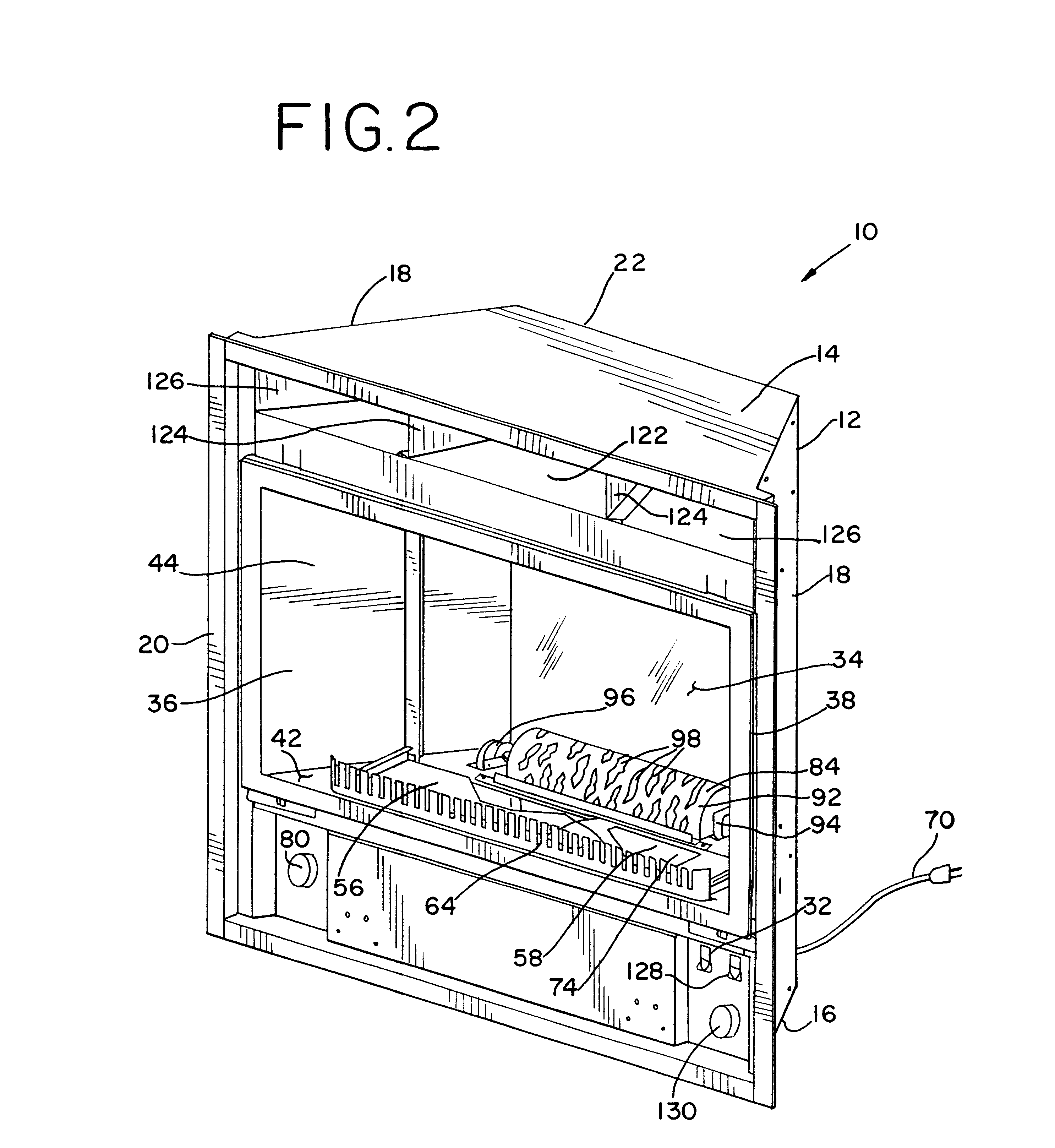 patent us6757487 electric fireplace with light randomizer