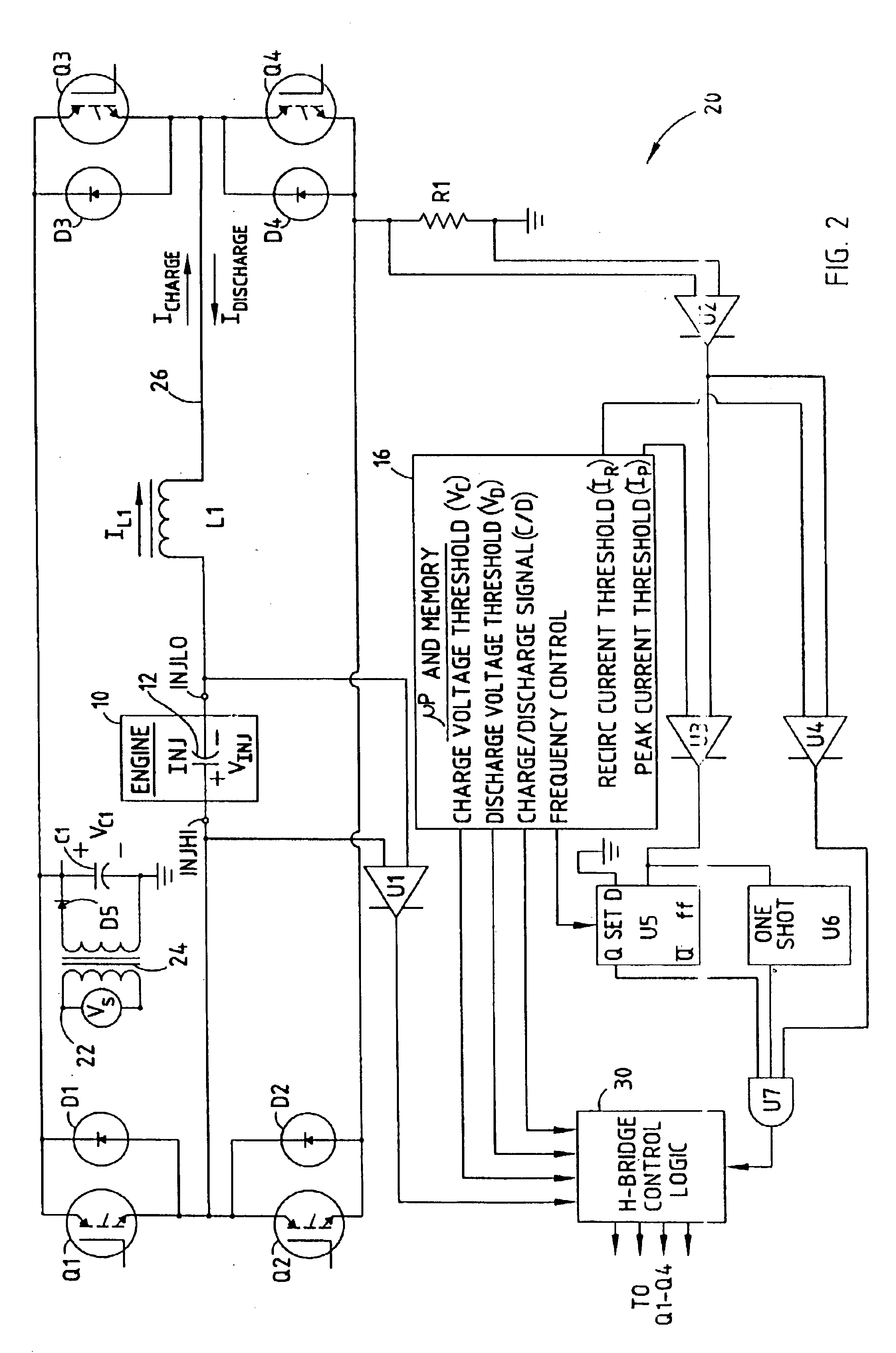 patent us6760212 - piezoelectric injector drive circuit