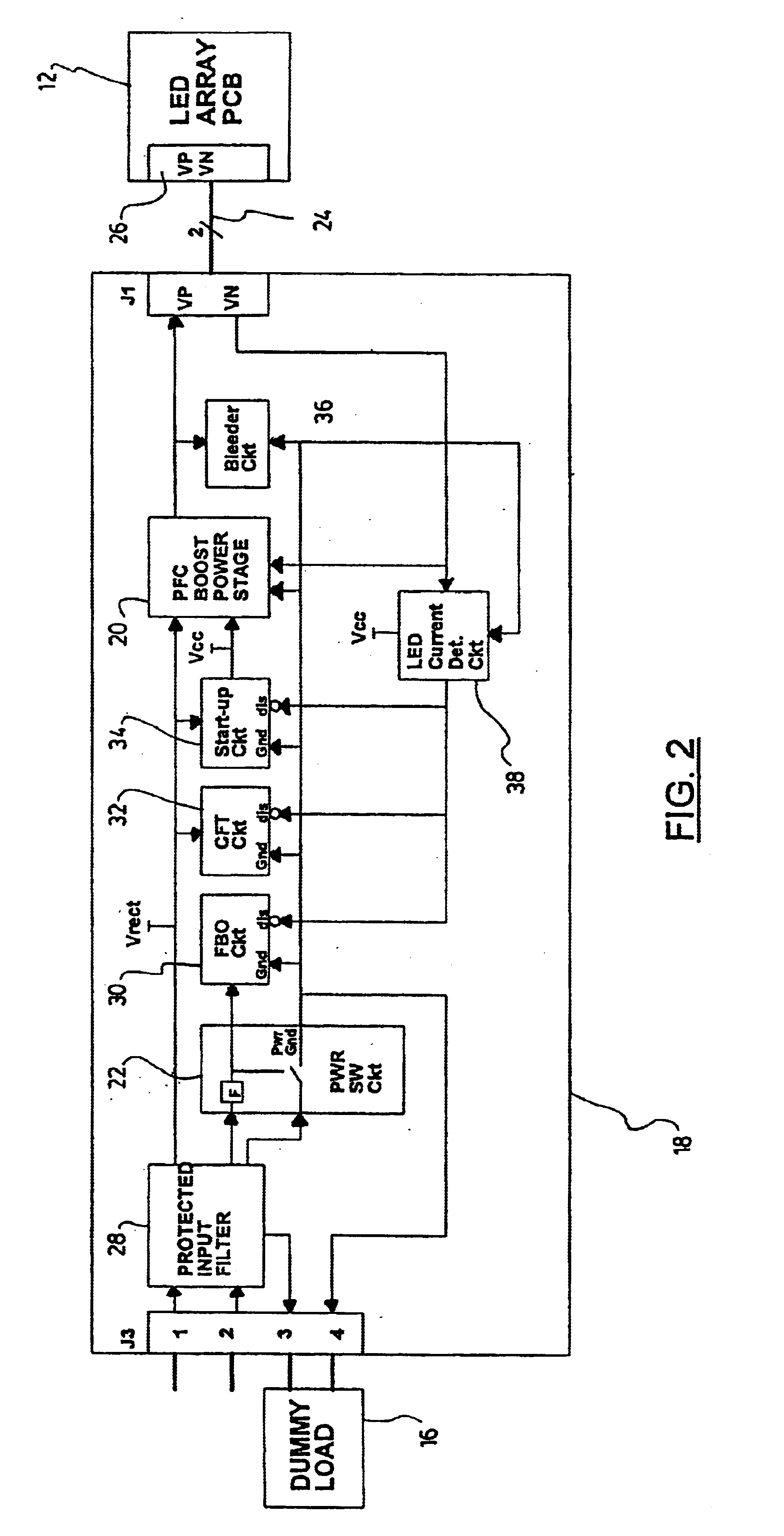 Patent Us6762563 Module For Powering And Monitoring Light Emitting Image Comparator Circuit If No Current Flows From To Drawing