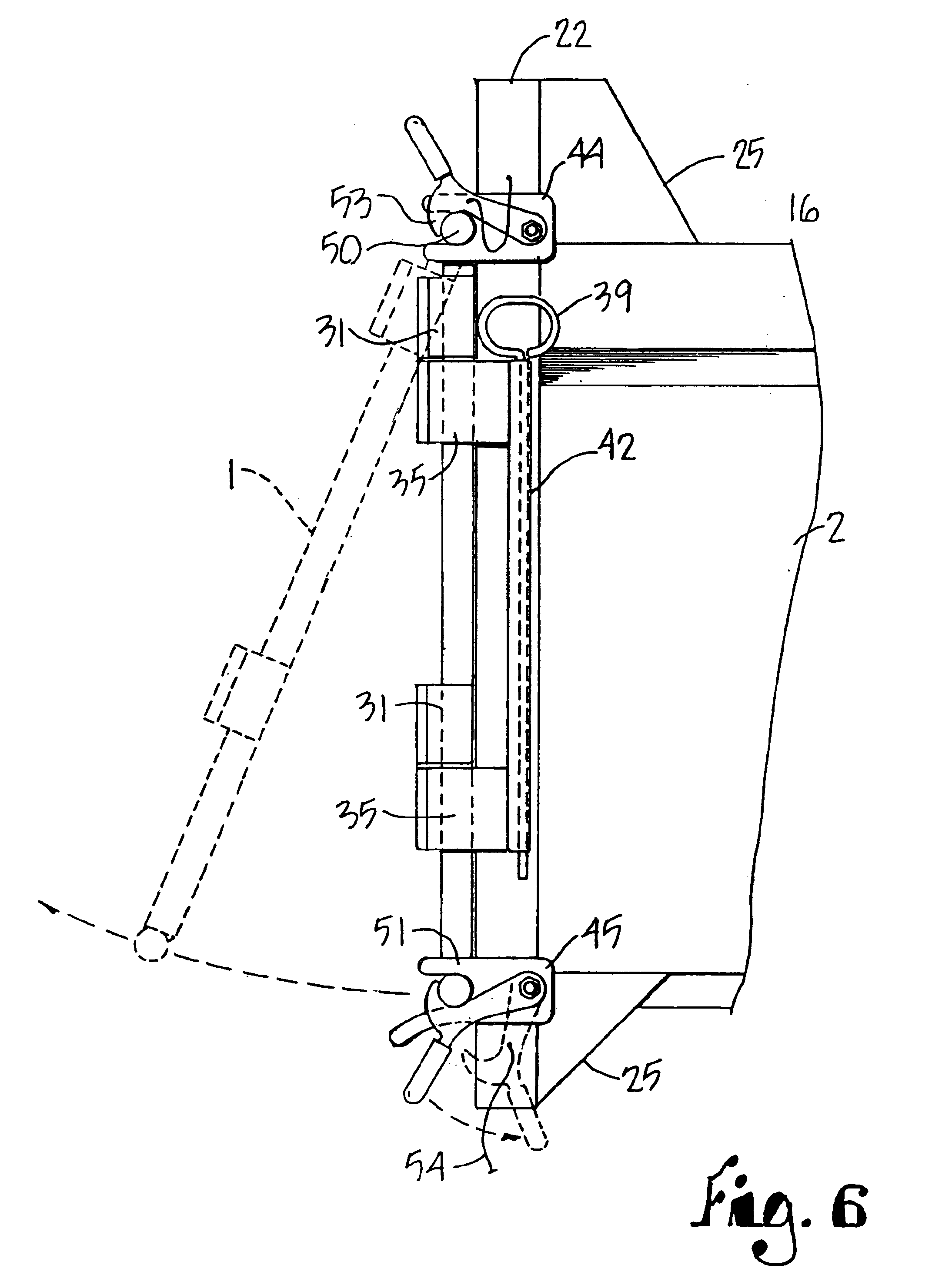 patent us6764130 - multi position tailgate for dump trailers