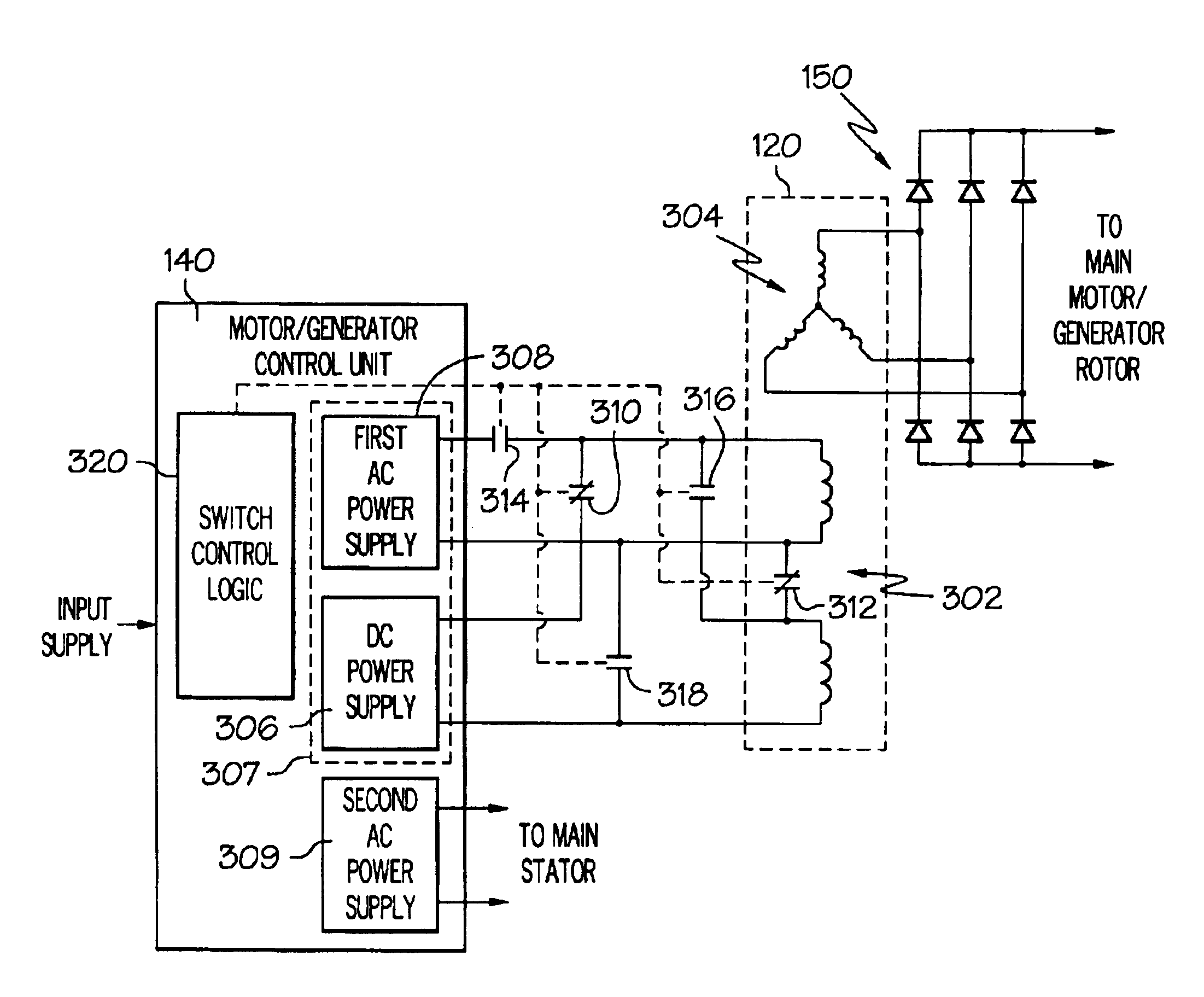 Patent Us6768278 Gas Turbine Engine Starter Generator With 1999 Ford 4 6 Diagram 204 Yr Drawing