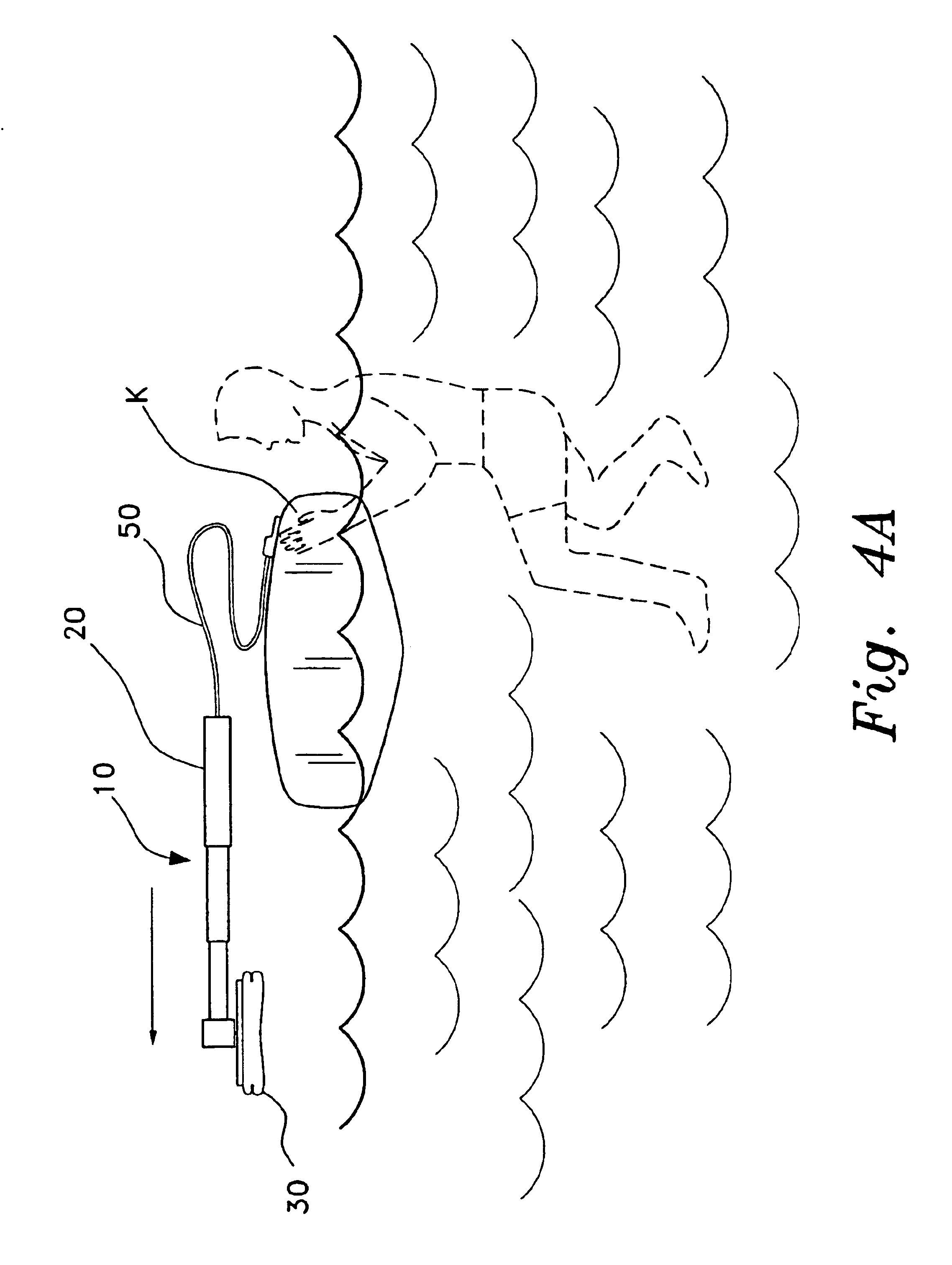 patent us6769378 portable self rescue device for kayakers