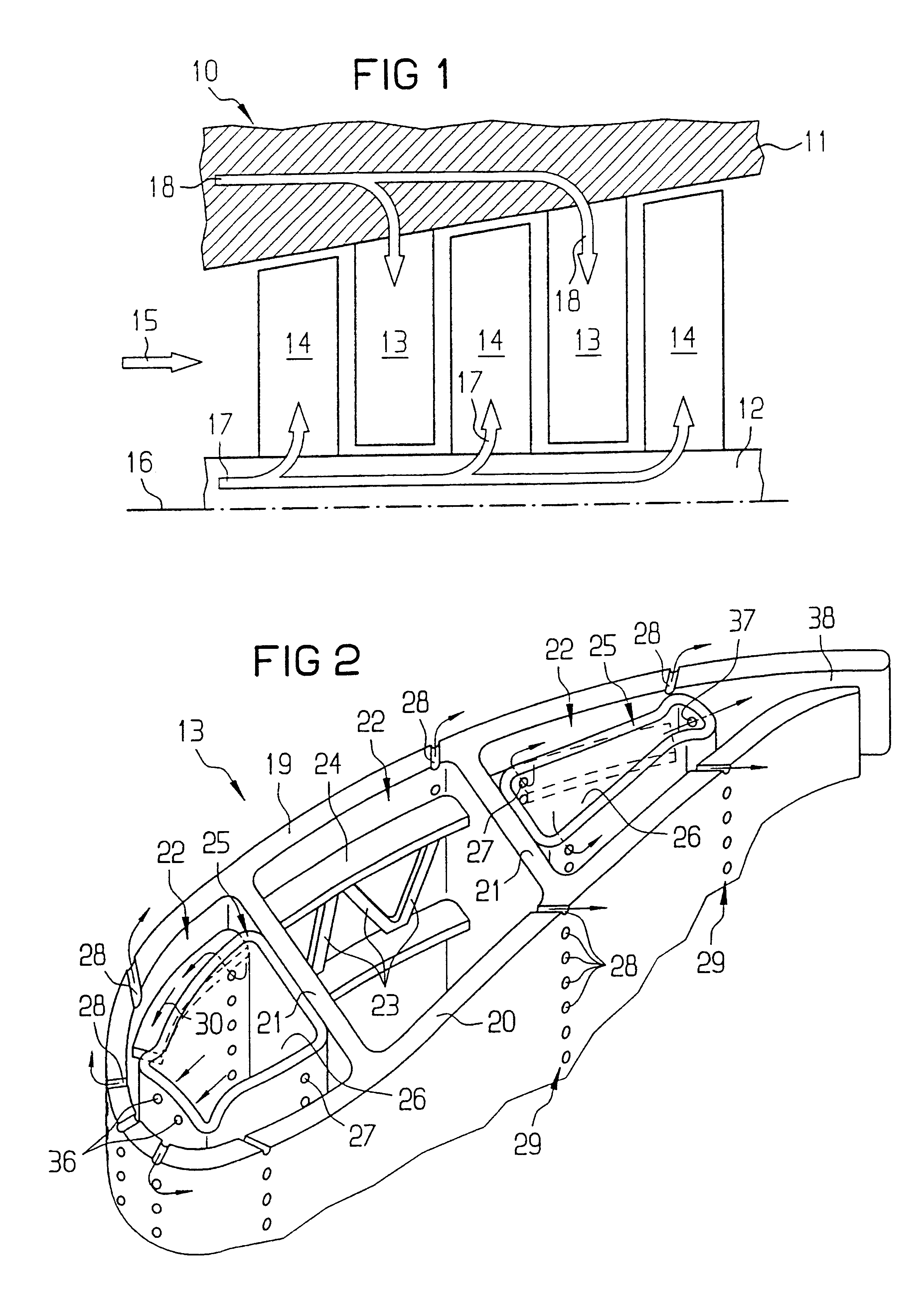 Patent US Cooling system for a turbine blade Google Patents