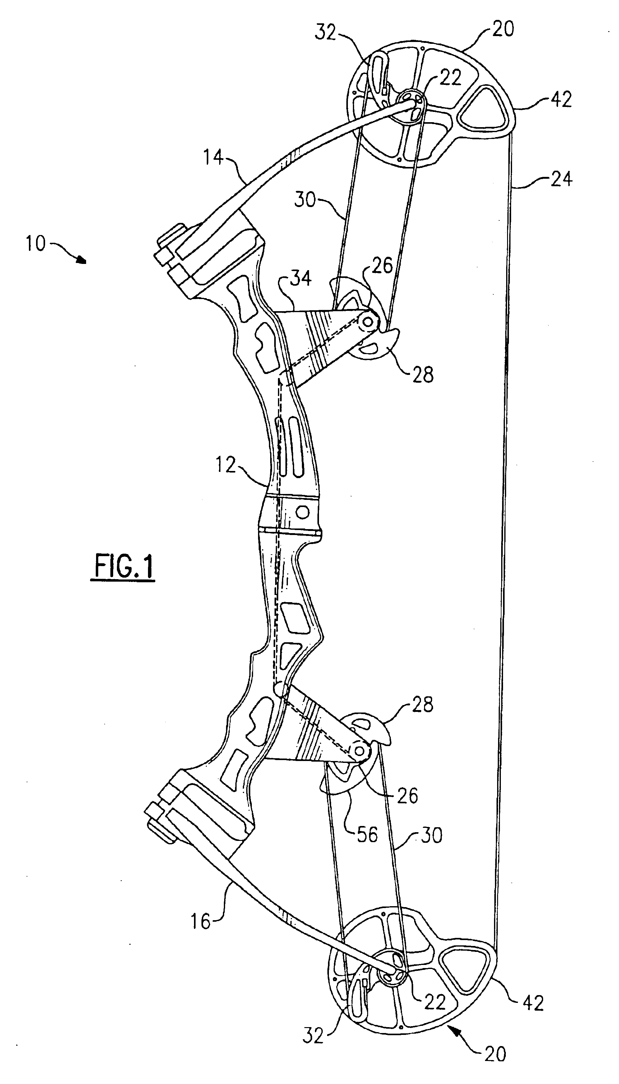 patent us6776148 - bowstring cam arrangement for compound bow