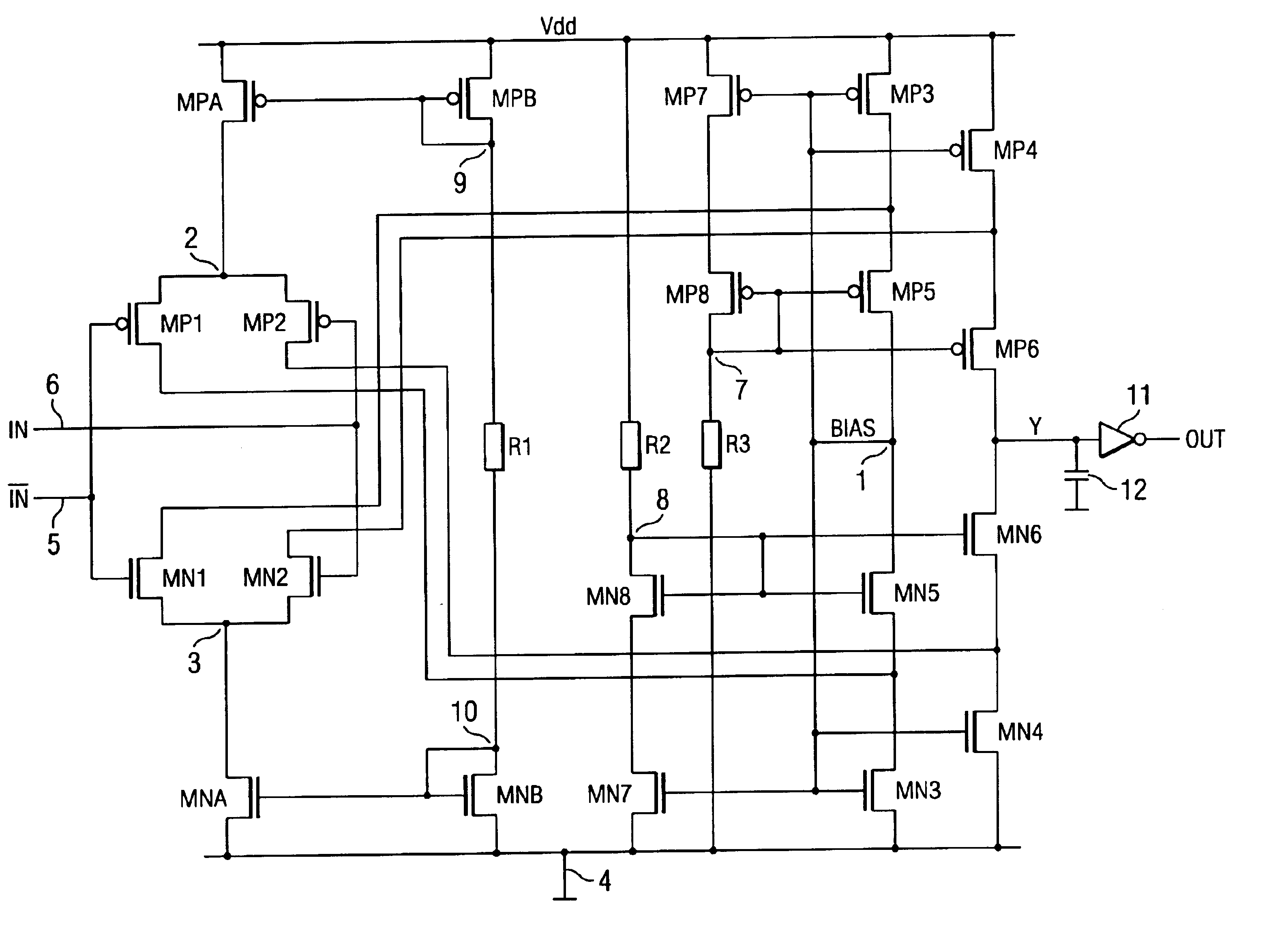 patent us6778014 - cmos differential amplifier