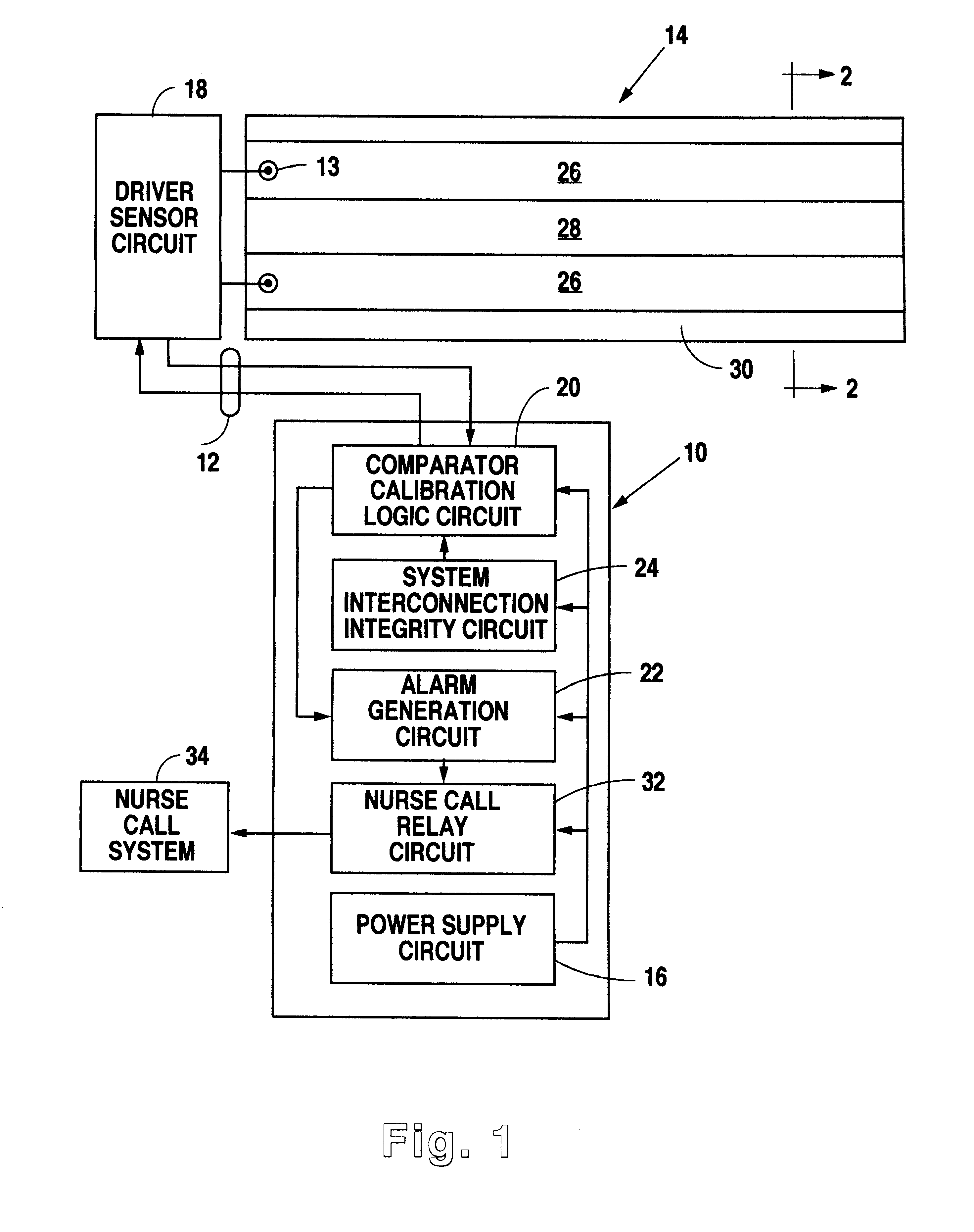 Patent Us6778090 Modular System For Monitoring The Presence Of A Comparator Logic Circuit Drawing
