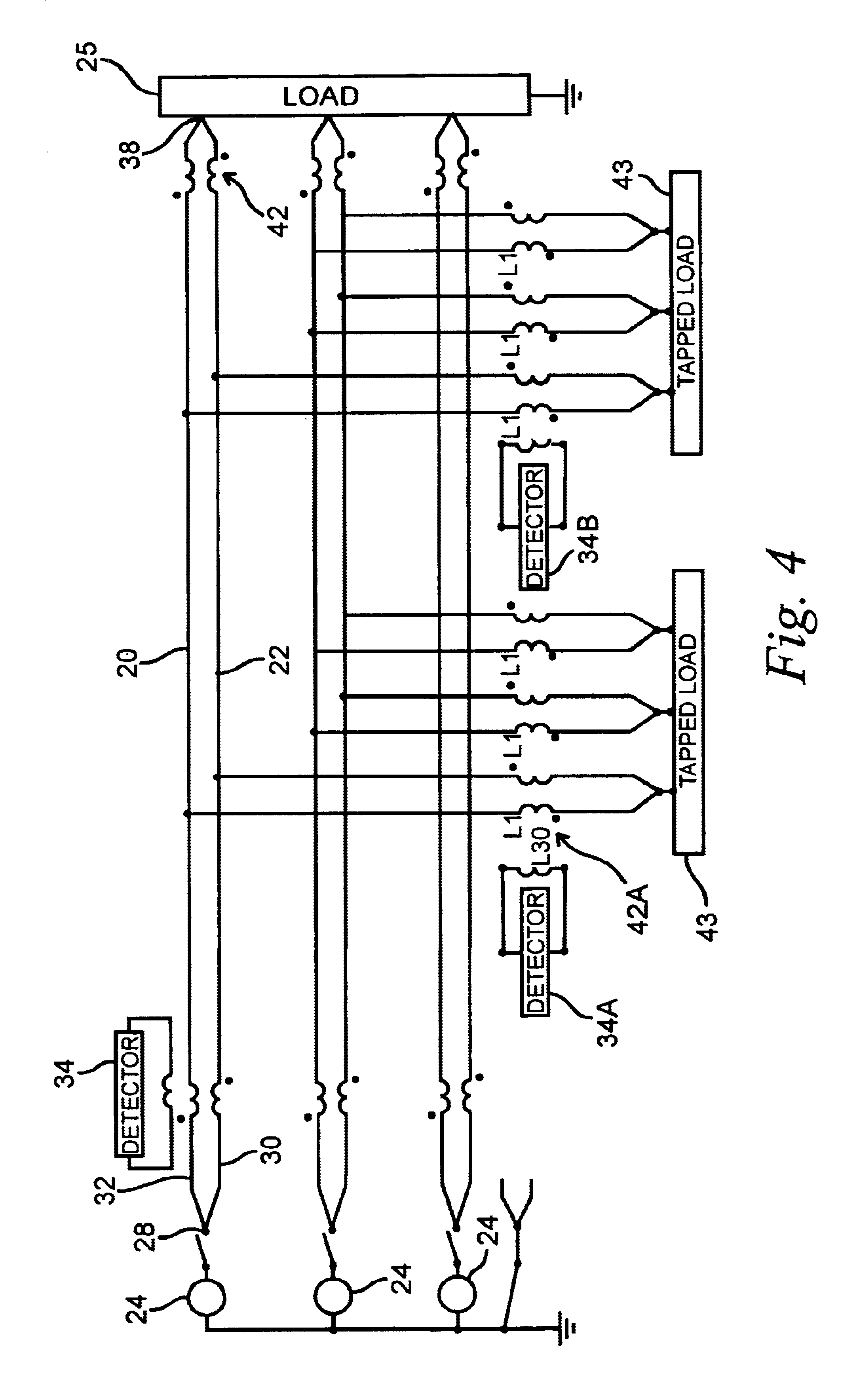 patent us6782329 - detection of arcing faults using bifurcated wiring system