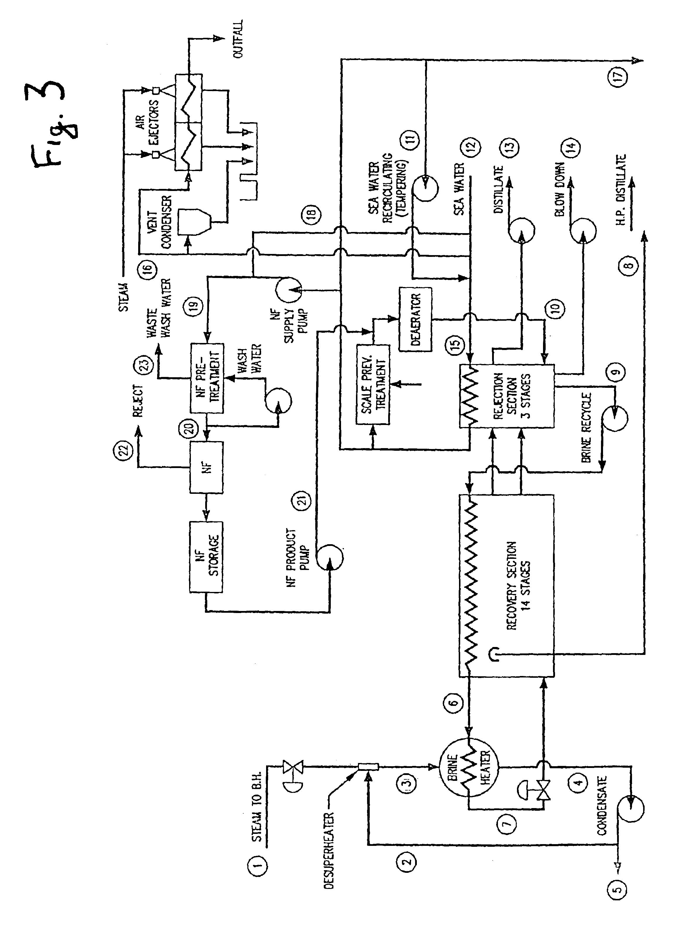 Patent US Salt water desalination process using ion