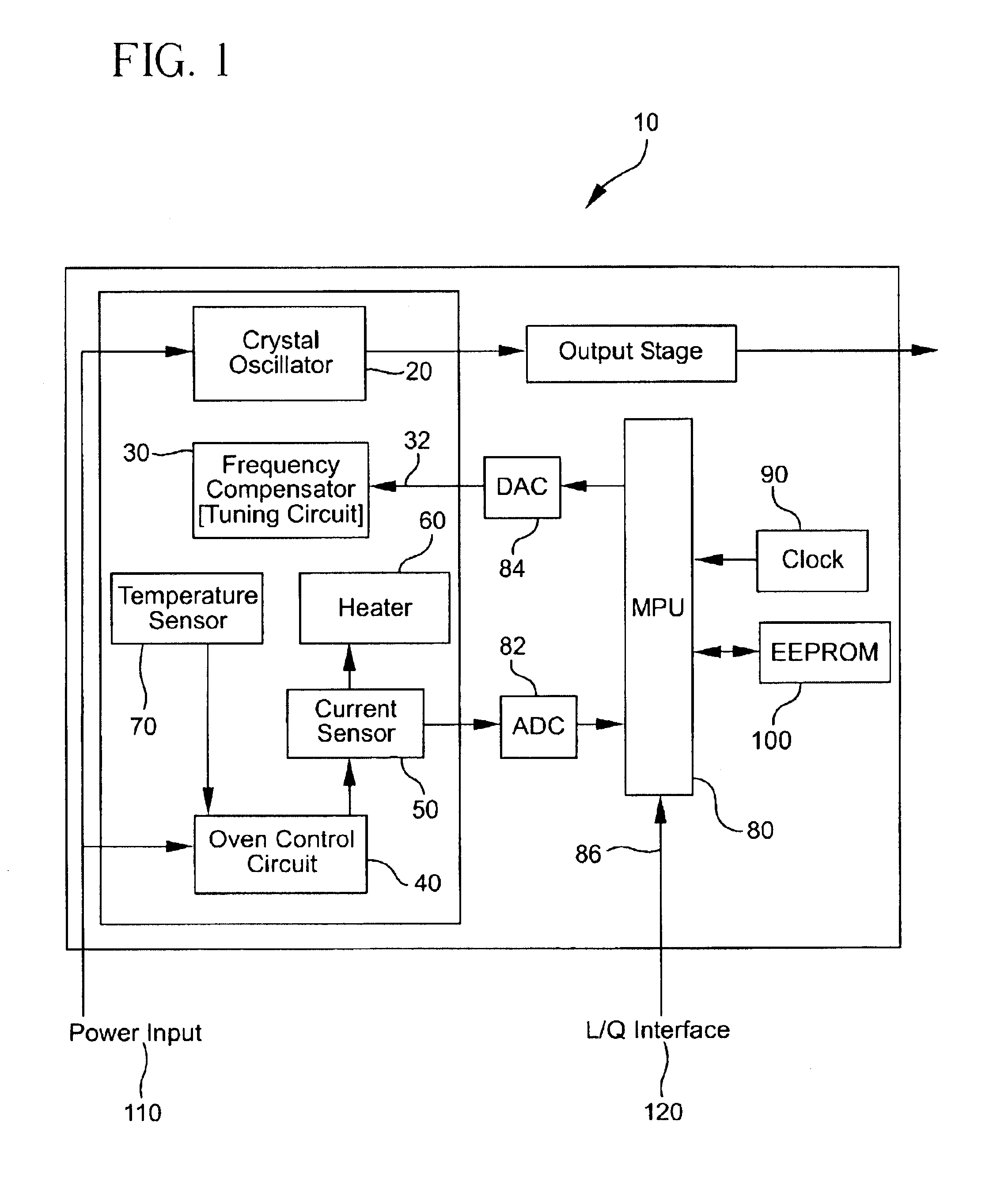 Patent Us6784756 On Board Processor Compensated Oven Controlled Hartley Oscillator Basic Schematic Circuit Diagram Drawing