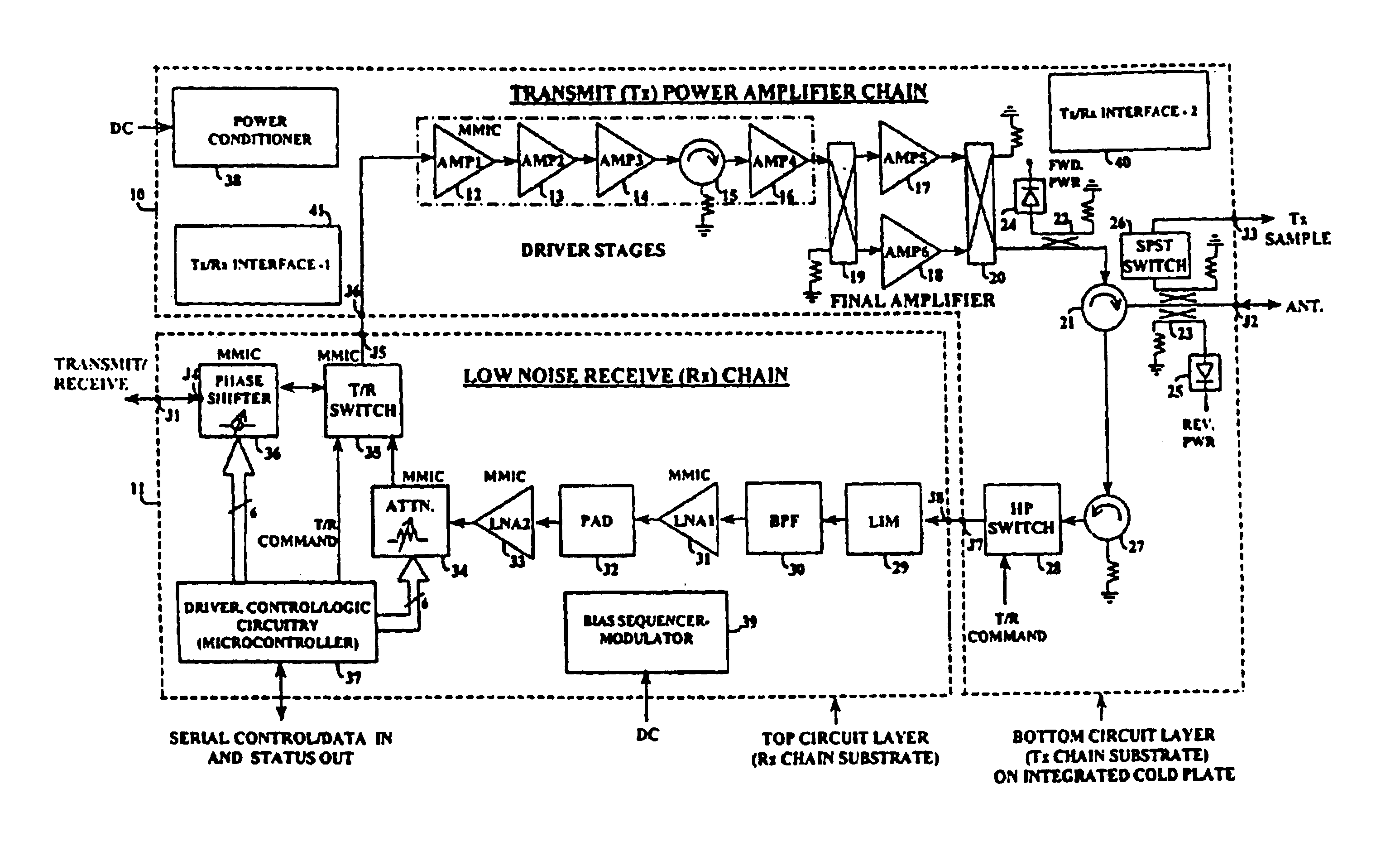 Patent US6784837 - Transmit/receiver module for active phased ...