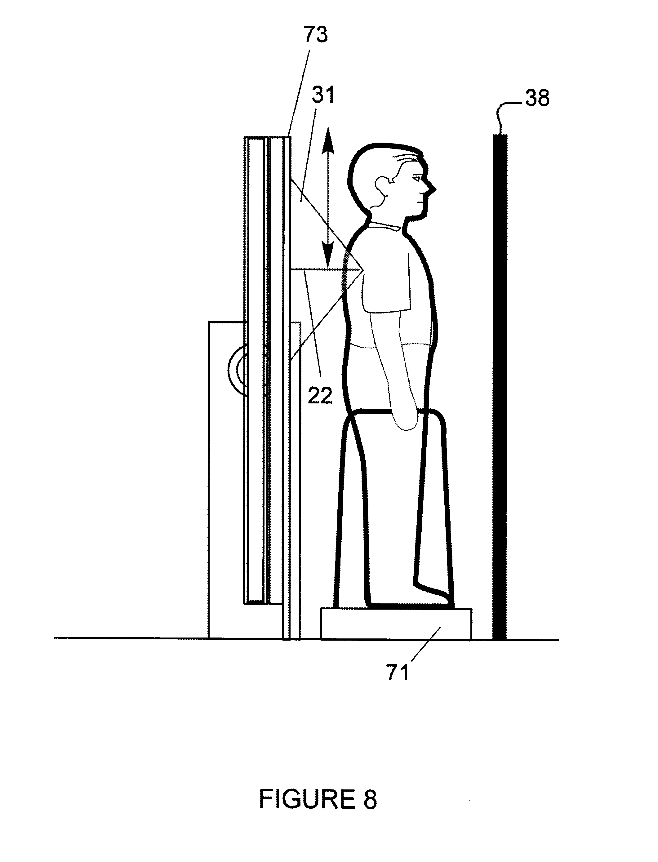X Ray Line Drawing : Patent us personnel inspection system with ray