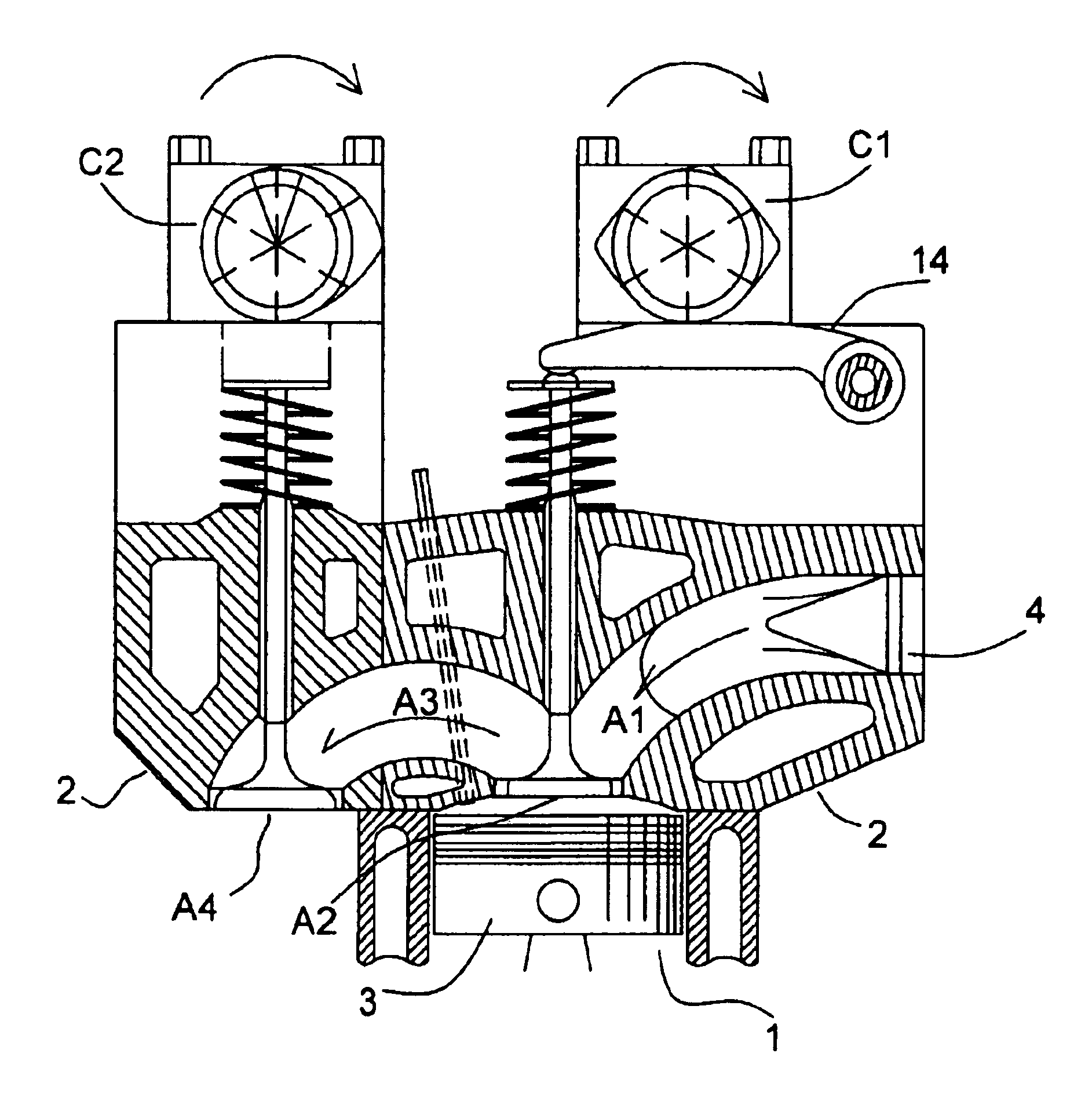patent us6789513 bazmi s six stroke engine with intake exhaust Reciprocating Engine Operation patent drawing