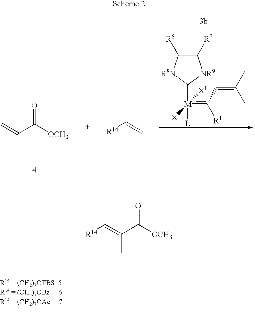 trisubstituted olefin metathesis The formation of the trisubstituted cycloalkene 7 by rcm of diene 5 proceeds via  the acyclic dimer 6, thus demonstrating the ready reversibility of olefin.
