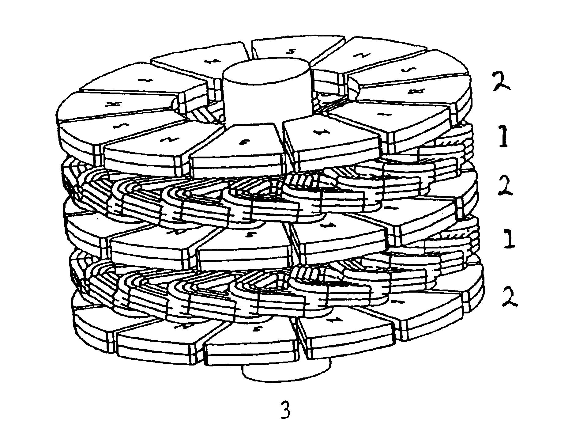 patent us6794783 - flat rotary electric generator