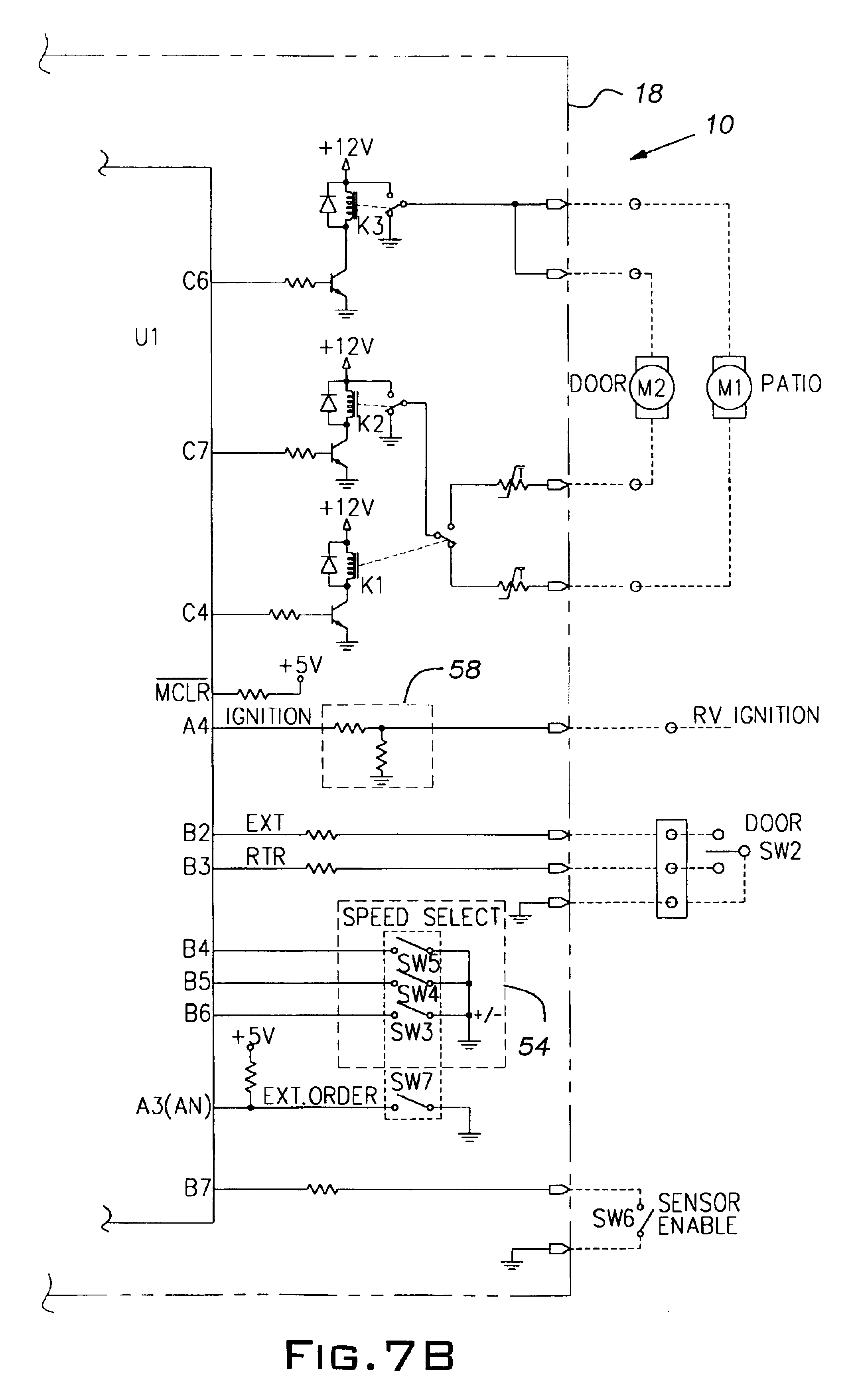 patent us6798158 wind sensing awning patents