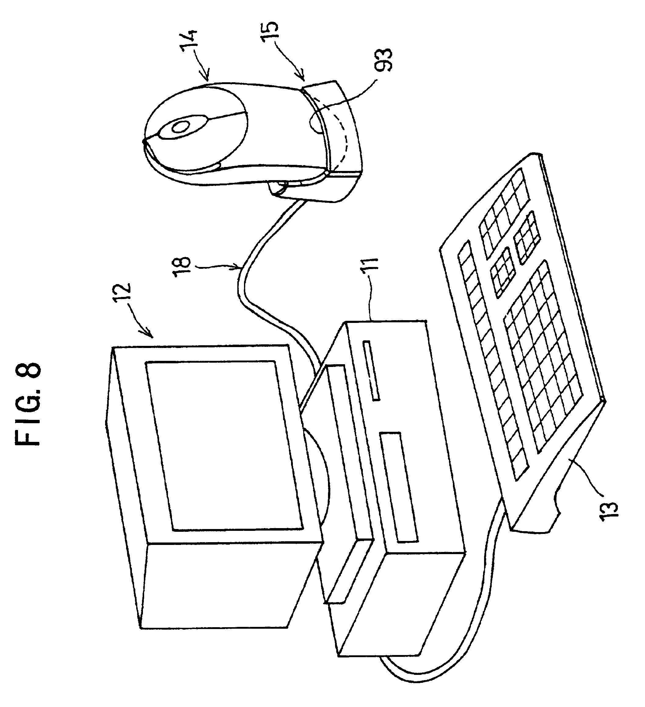 patent us6801967 wireless mouse unit wireless mouse and patent drawing