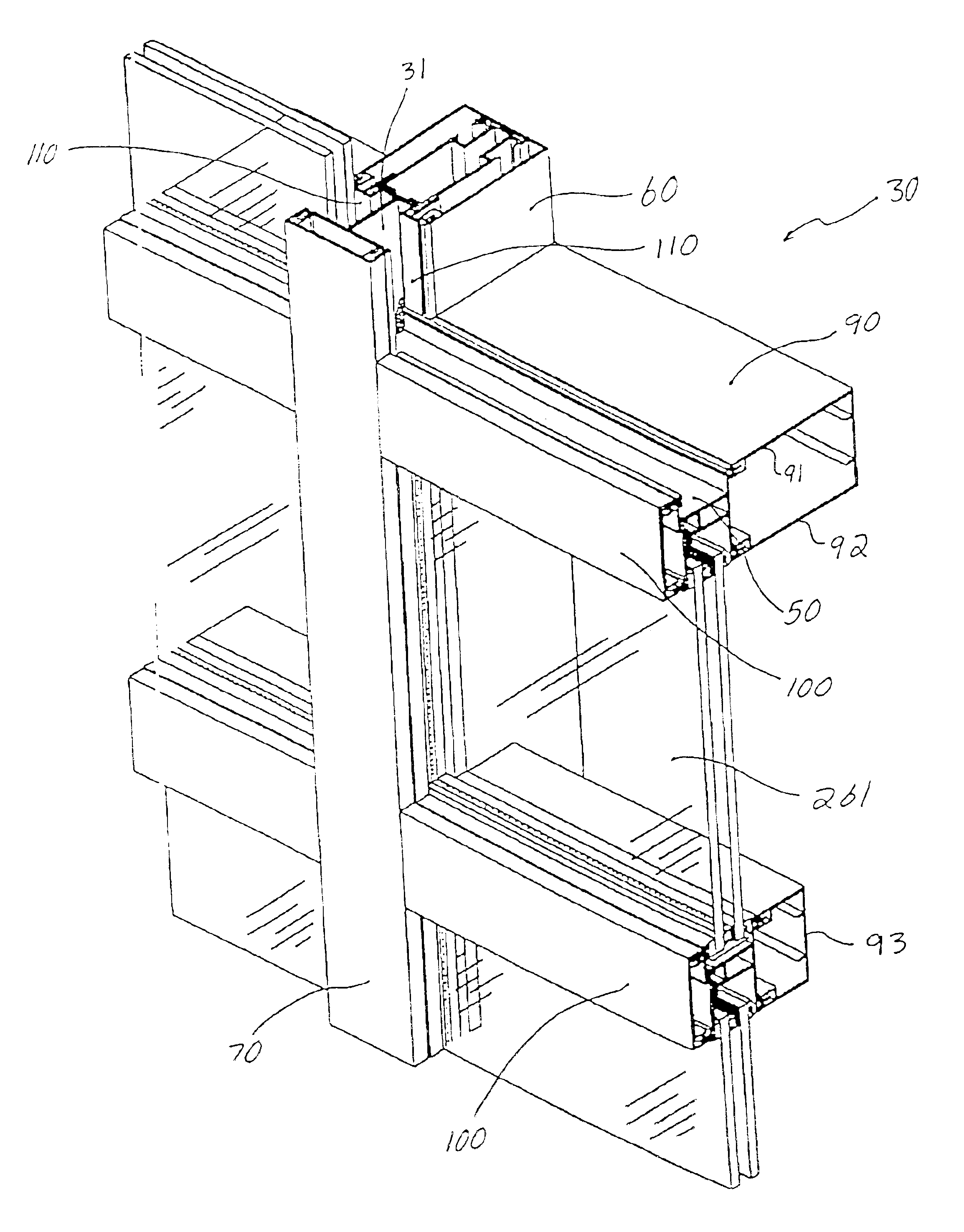 patent us6804920 - tube-lock curtain wall system