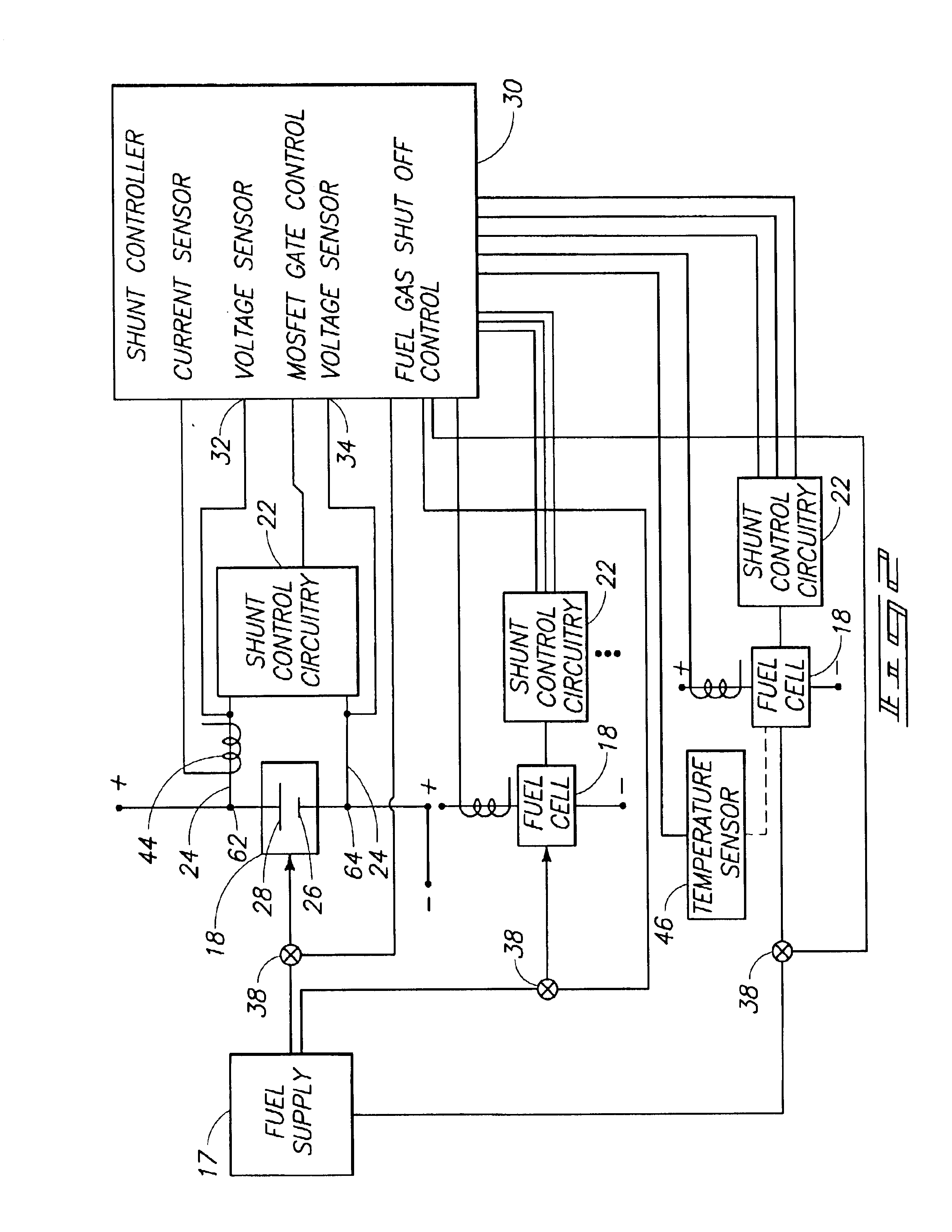Patent Us6805987 Method And Apparatus For Monitoring Equivalent Fig4 Schematic Diagram Of The Main Components A Fuel Cell System Drawing