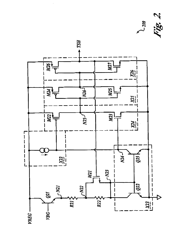 patent us6816351 - thermal shutdown circuit