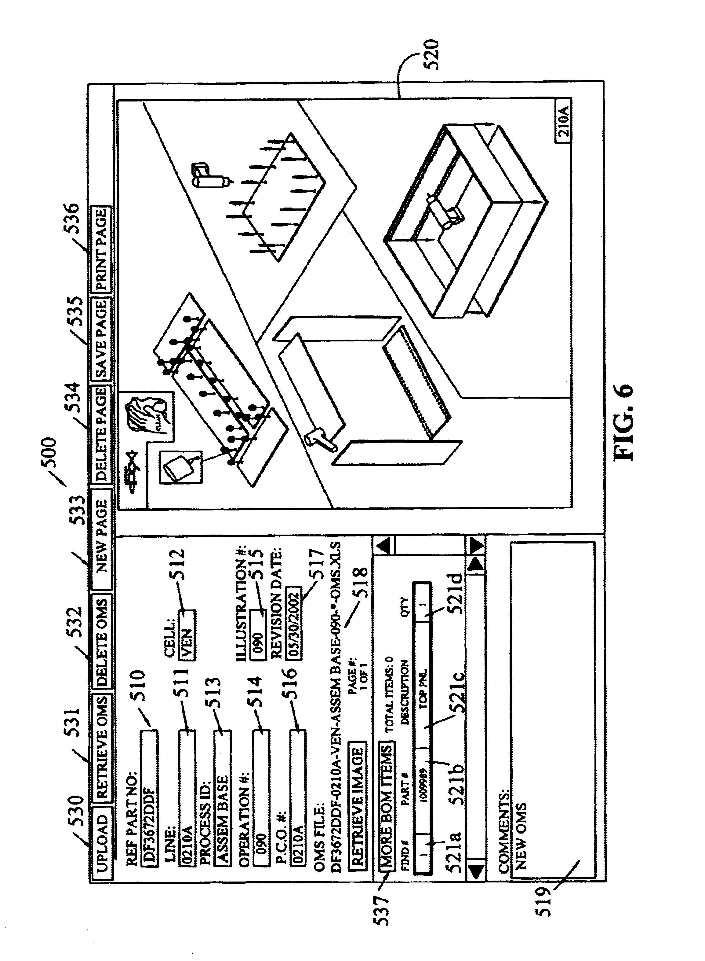 Patent US6819965 - Electronic work instruction object oriented ...
