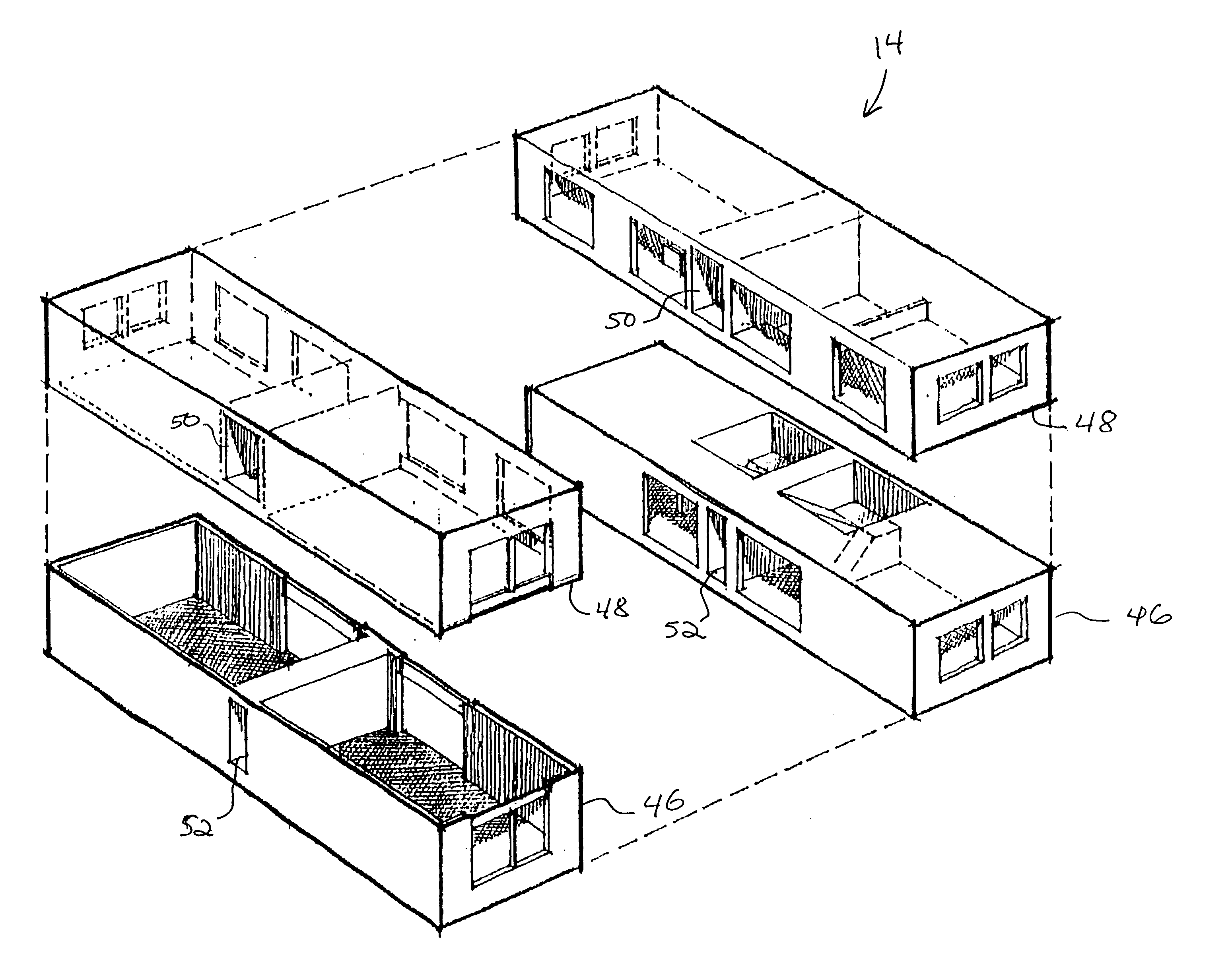 patent us6826879 modular building construction google patents
