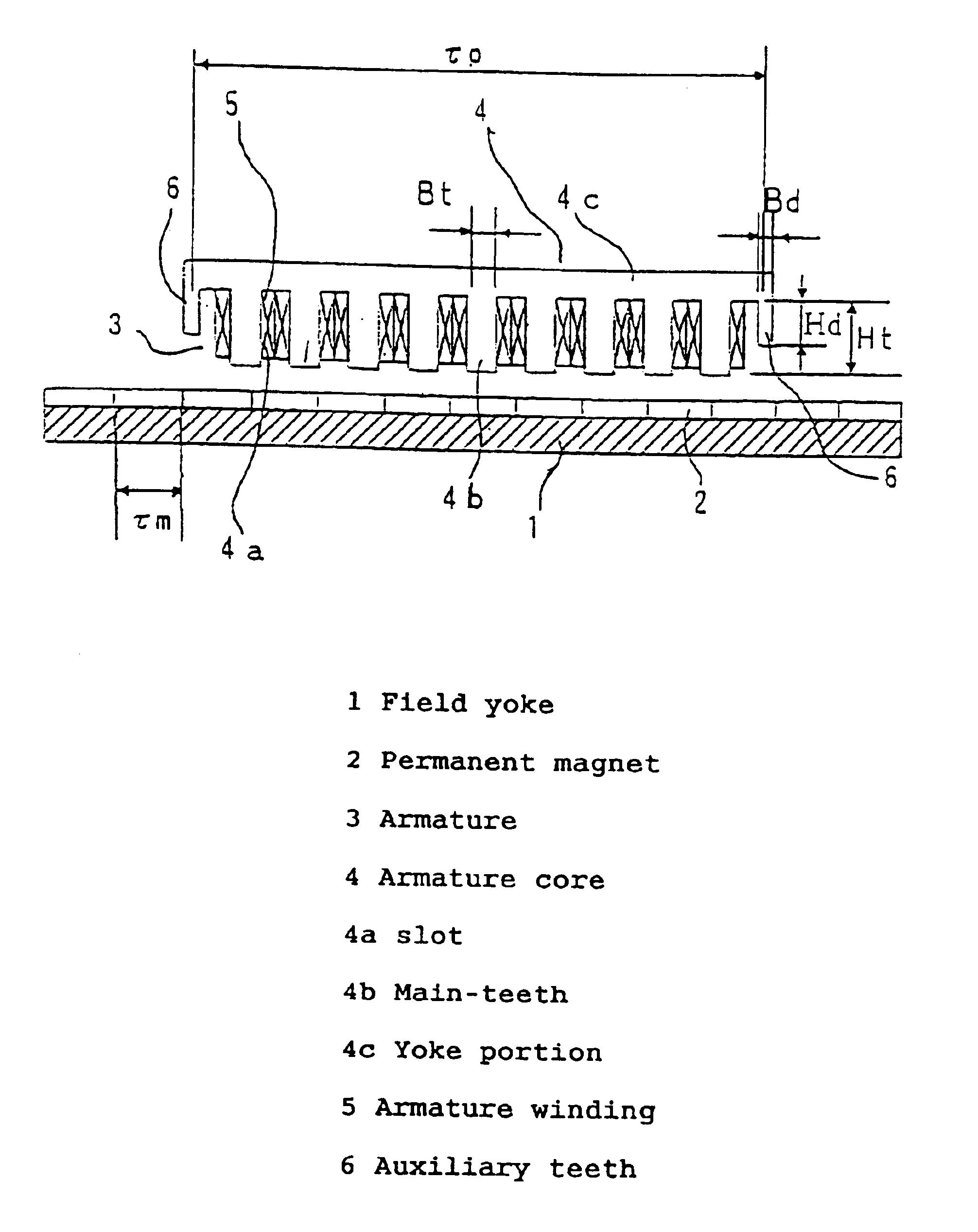 Patent Us6831379 Permanent Magnet Synchronous Linear