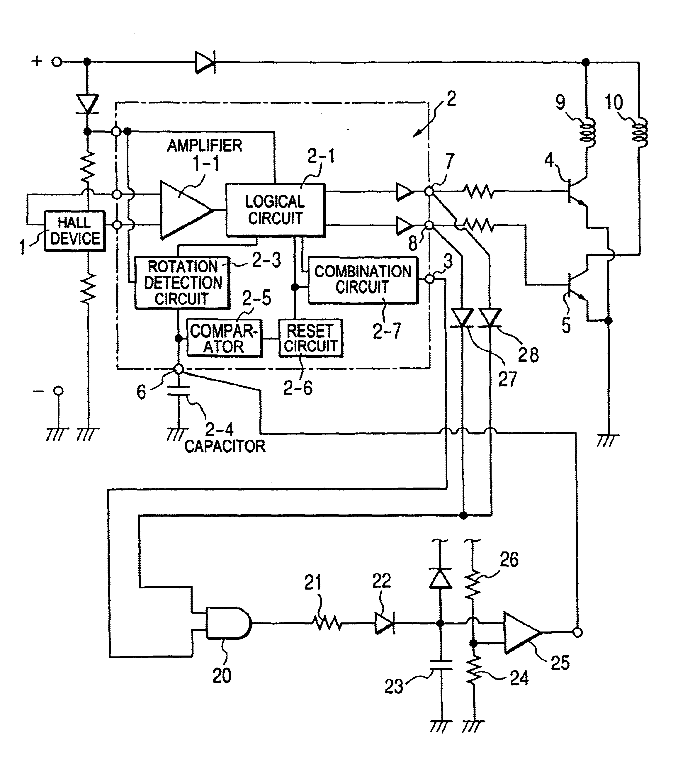 Patent Us6831434 Control Circuit For Brushless Dc Motor Equipped Diagram Drawing