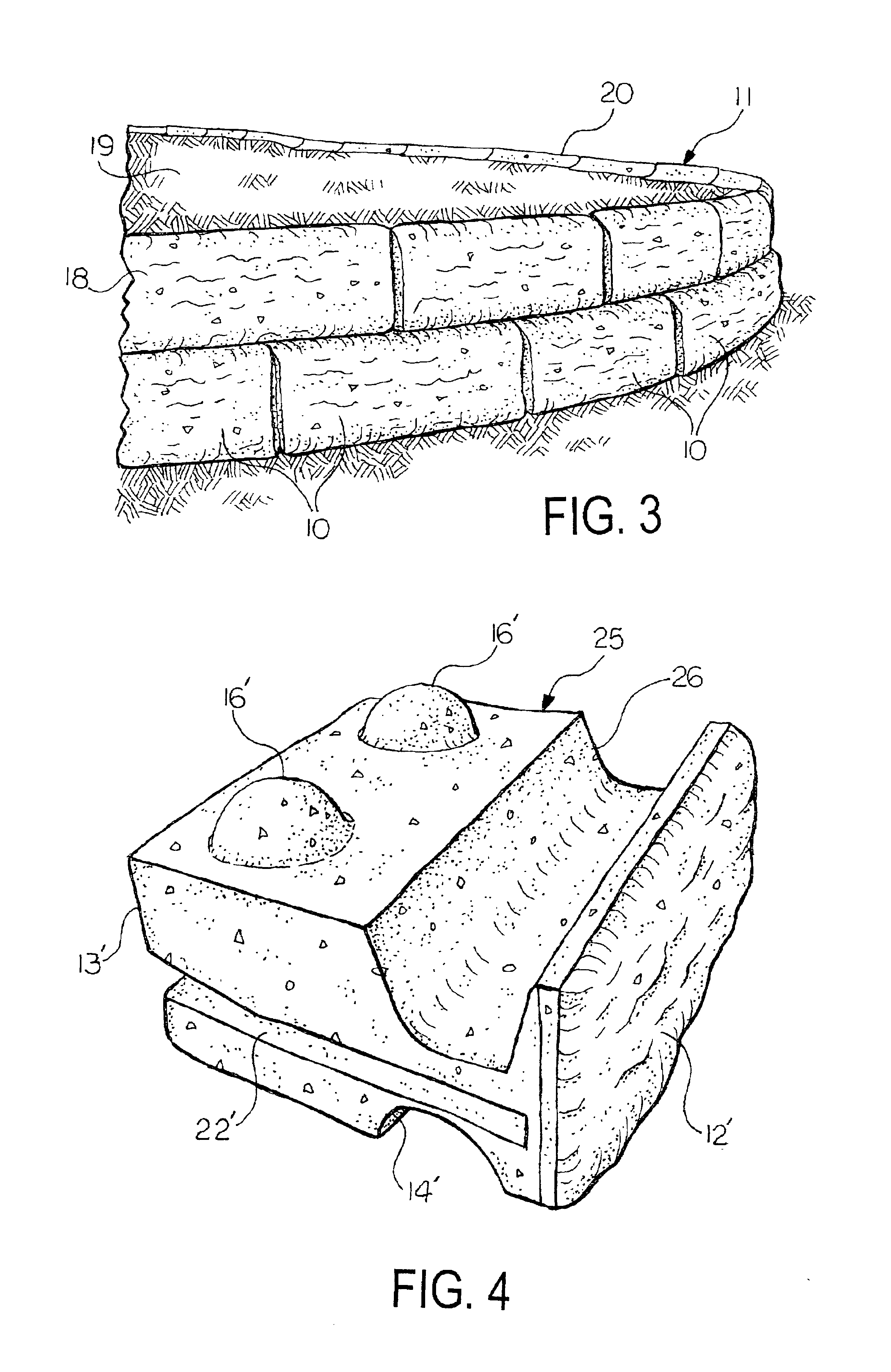 Patent US6835343 Method for handling concrete retaining