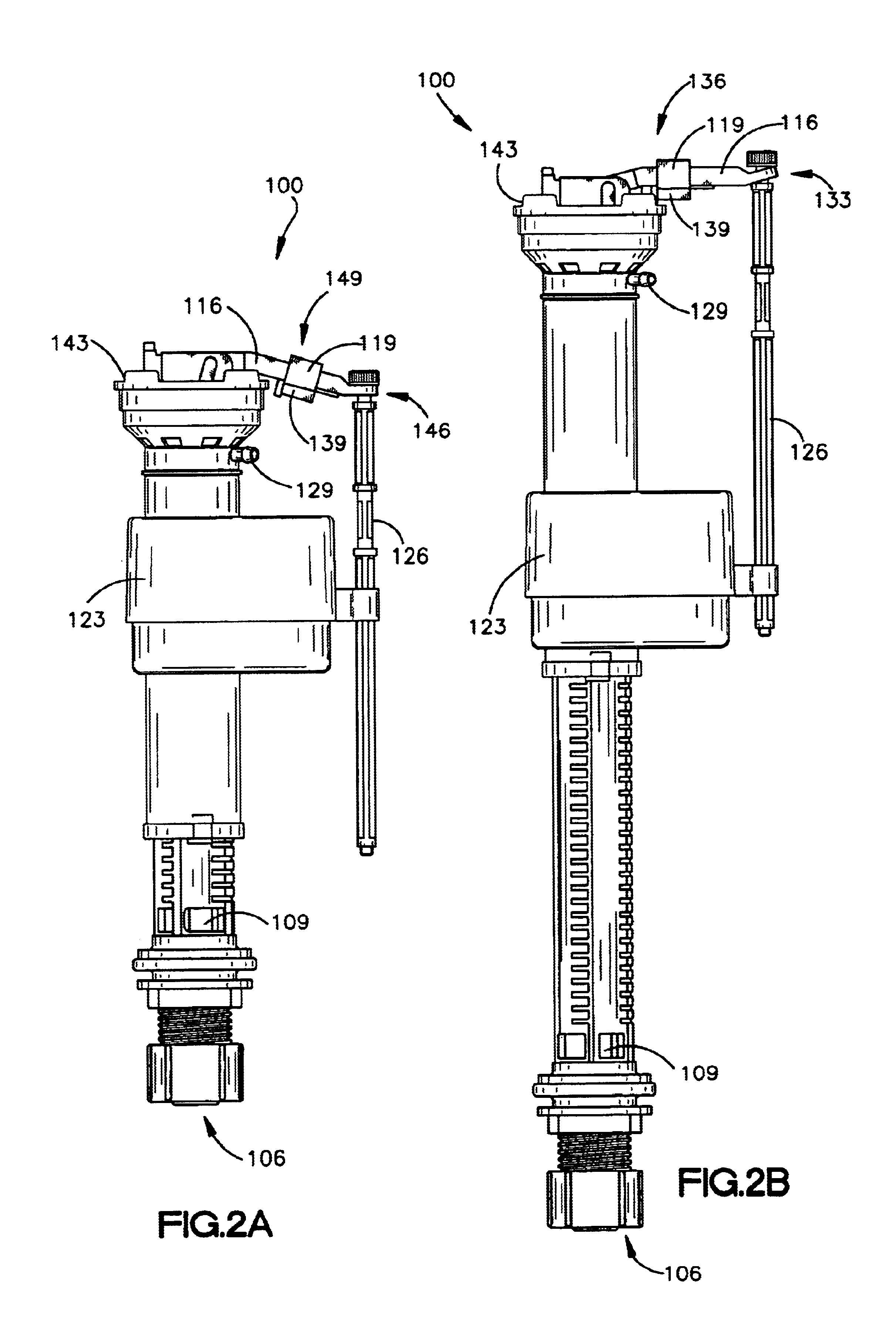 toilet fill valve parts. Patent Drawing US6837264  Toilet fill valve with lock Google Patents