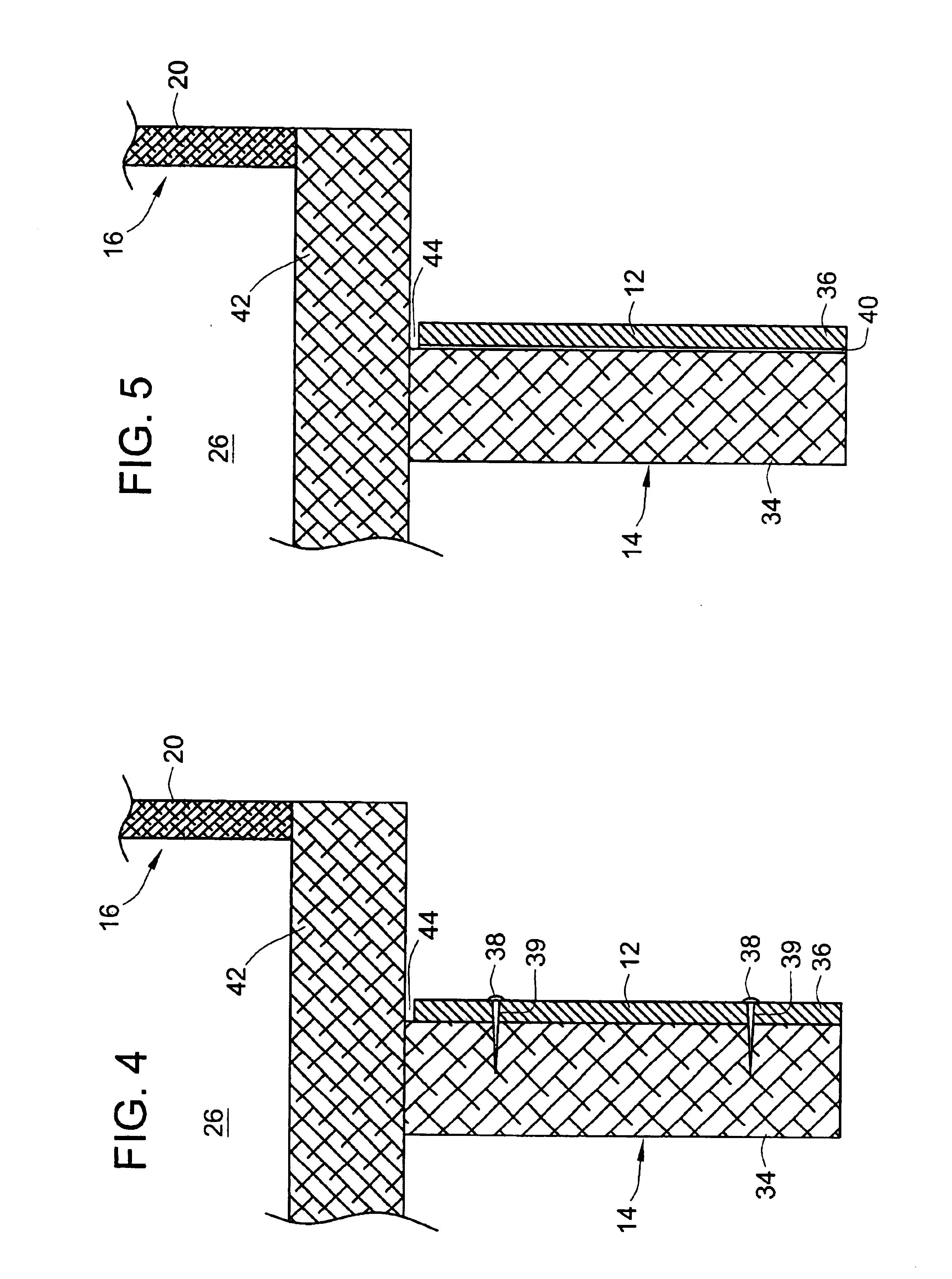 Kitchen cabinet kickboard dimensions - Patent Drawing