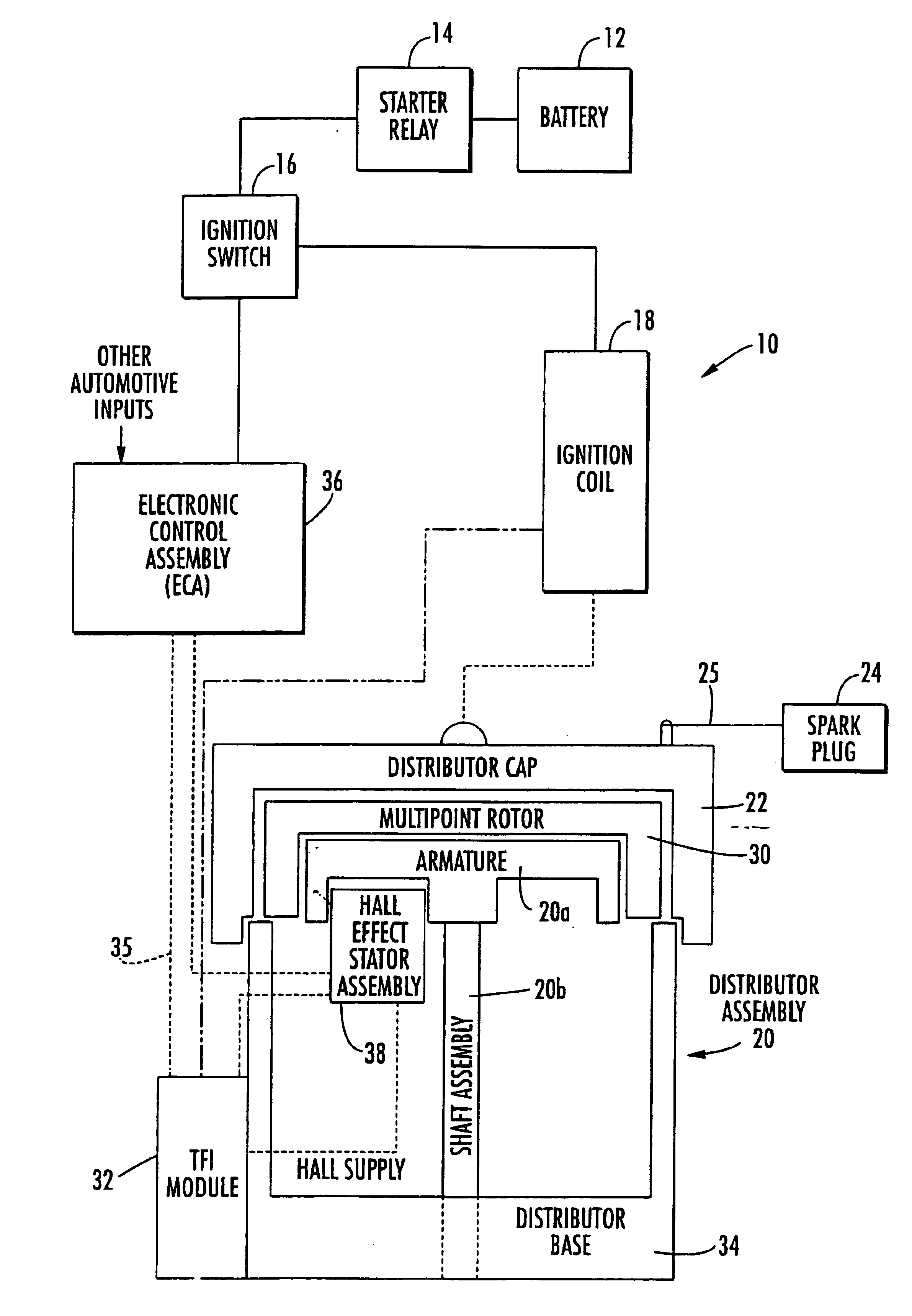 Patent Us6845763 Vehicle Ignition System Using Module 1 9 Sefi Engine Diagram Drawing