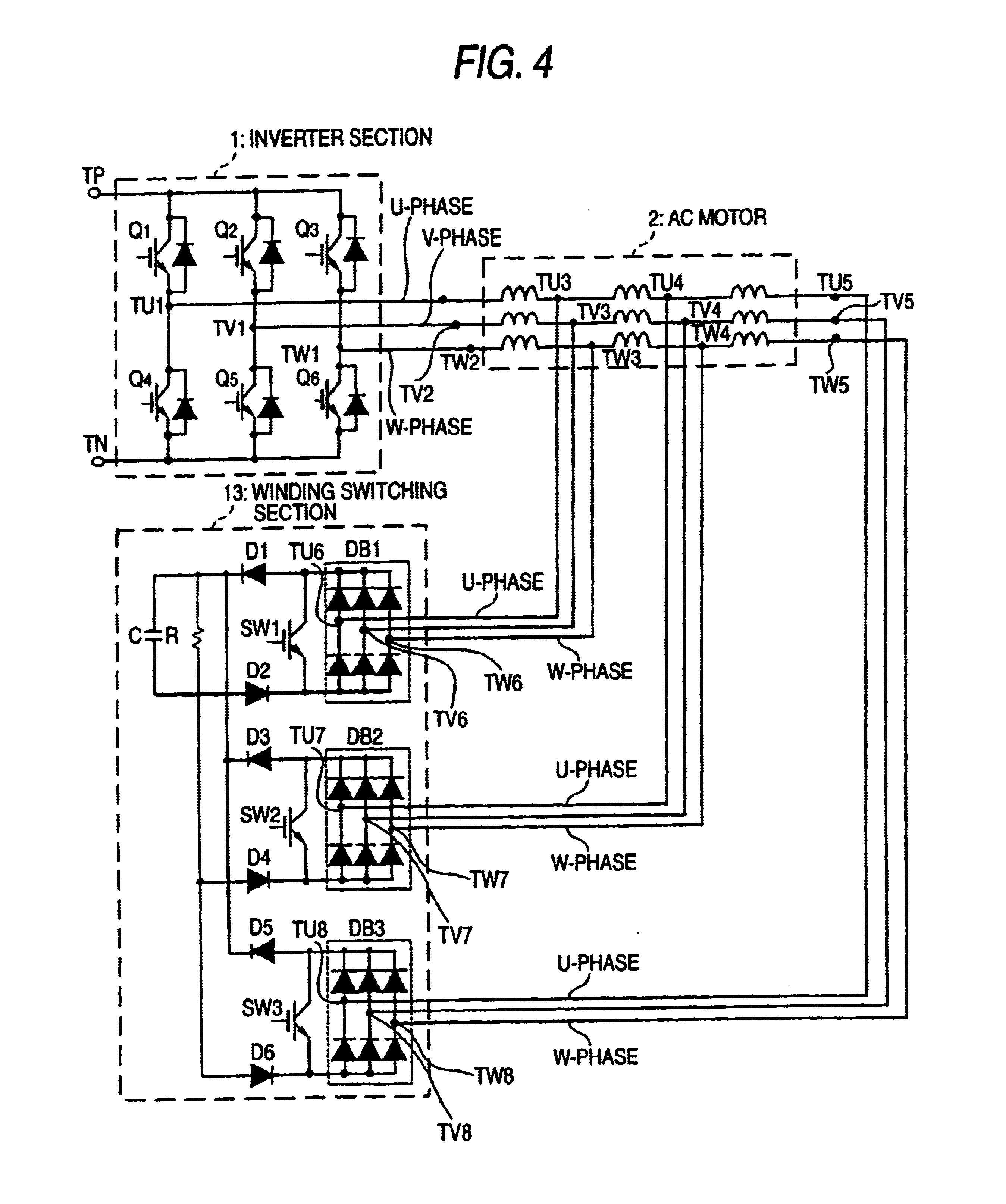 Patent Us6847185 Apparatus For Switching Windings Of Ac