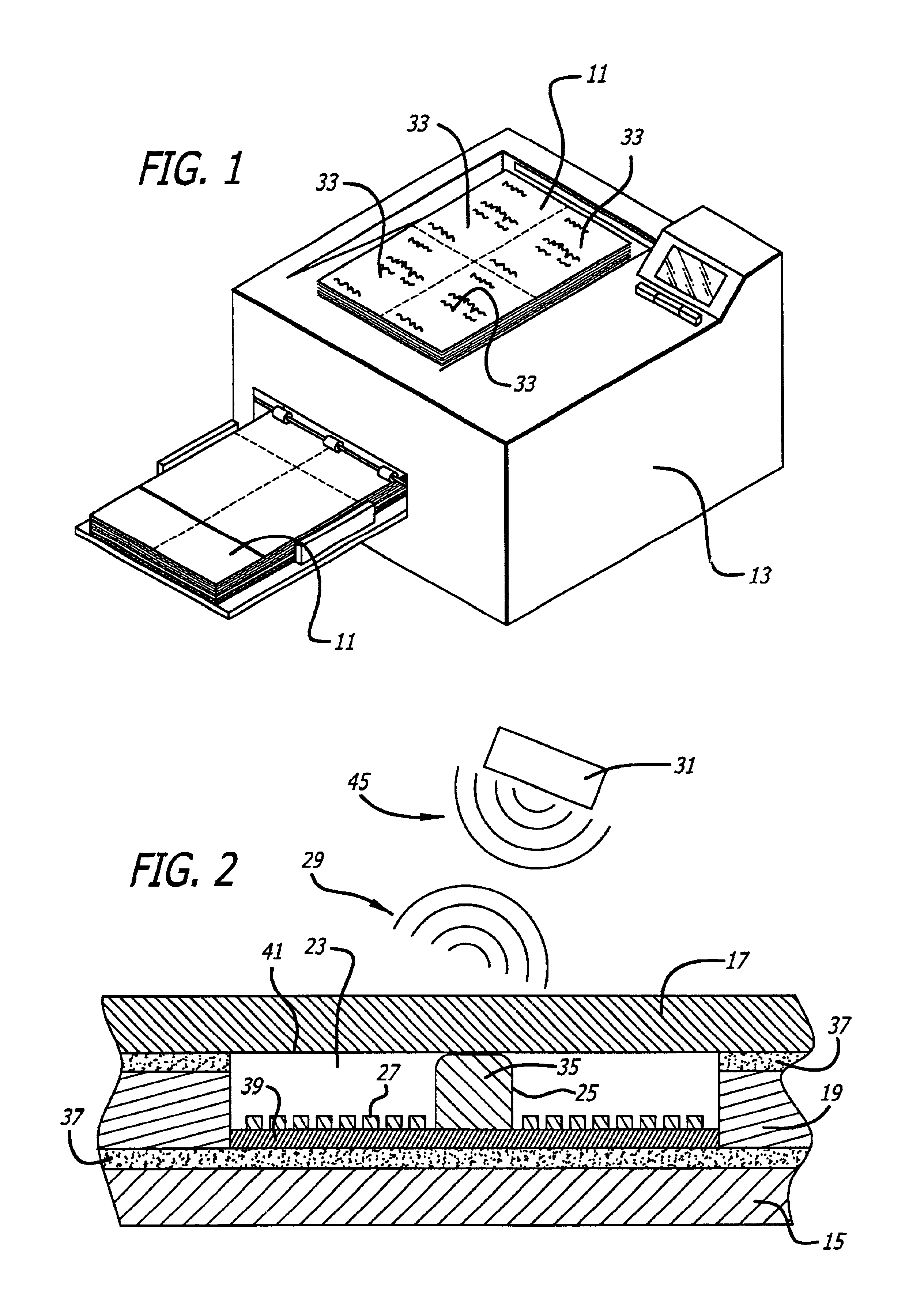 patent us6851617 - laser imageable rfid label  tag