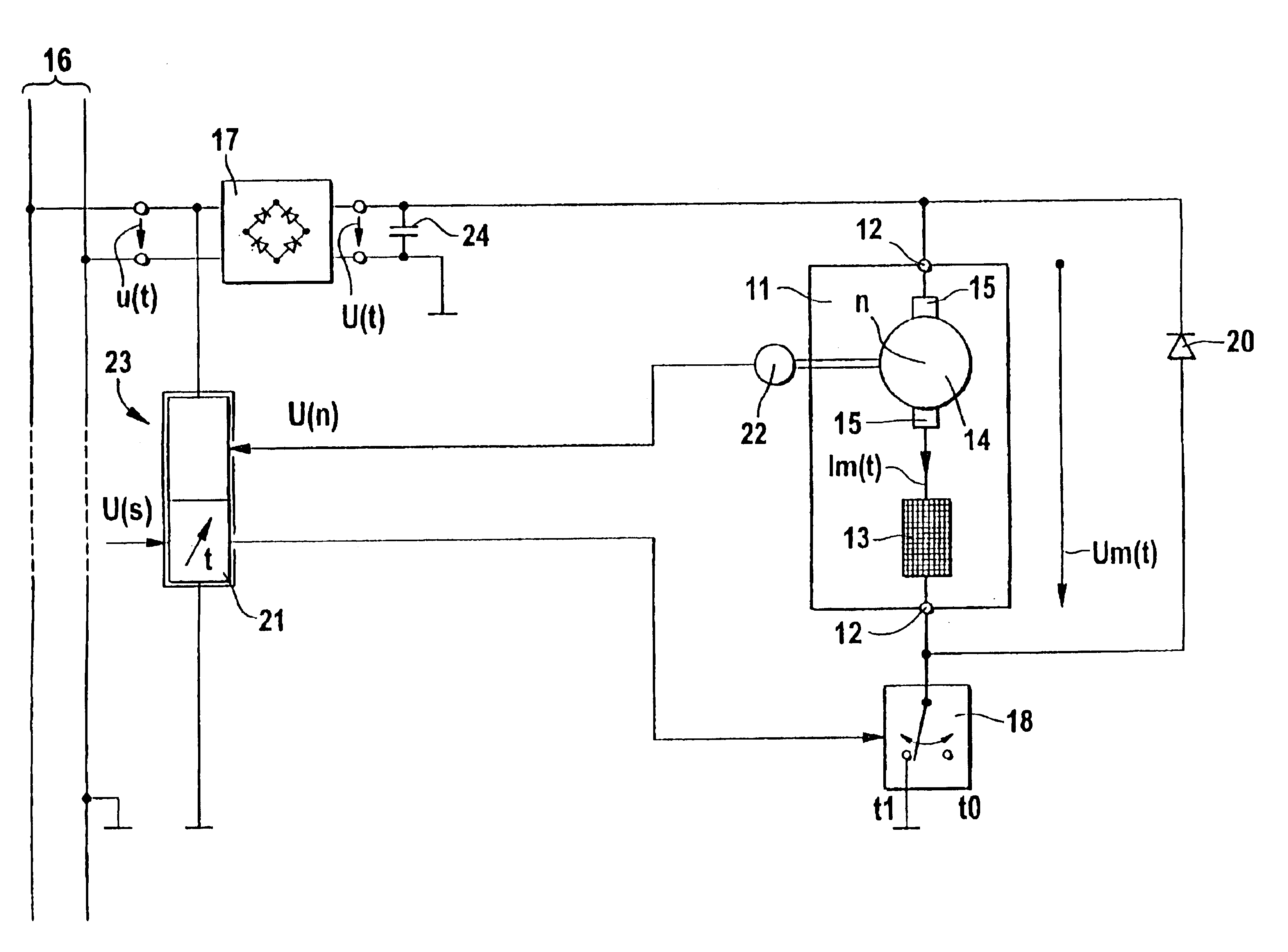 patent us6854299 rotary speed for a universal motor in particular for a washing