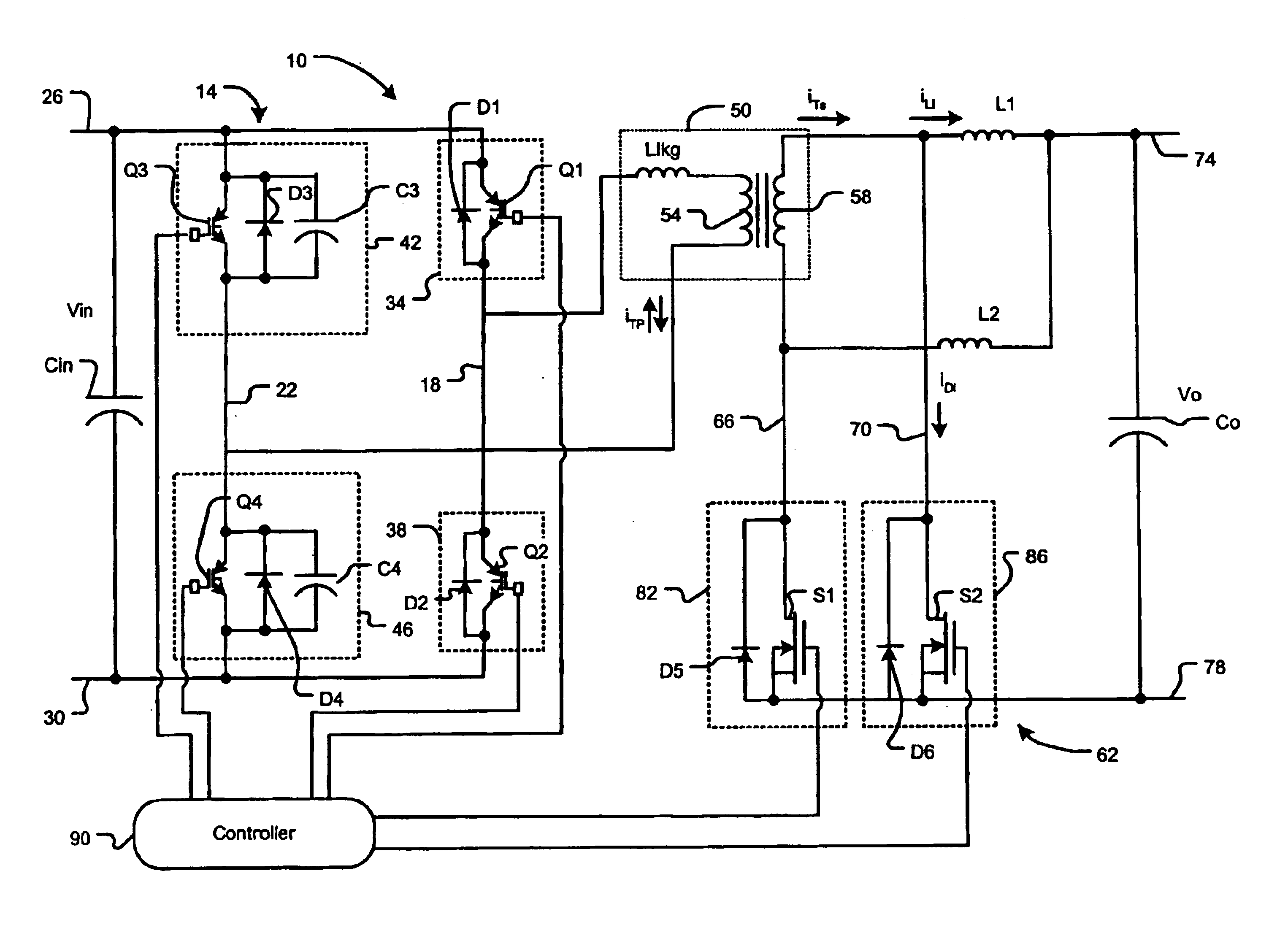 Patent Us6856521 Pulse Width Modulation Soft Switching Control Modulator Circuit Diagram Drawing
