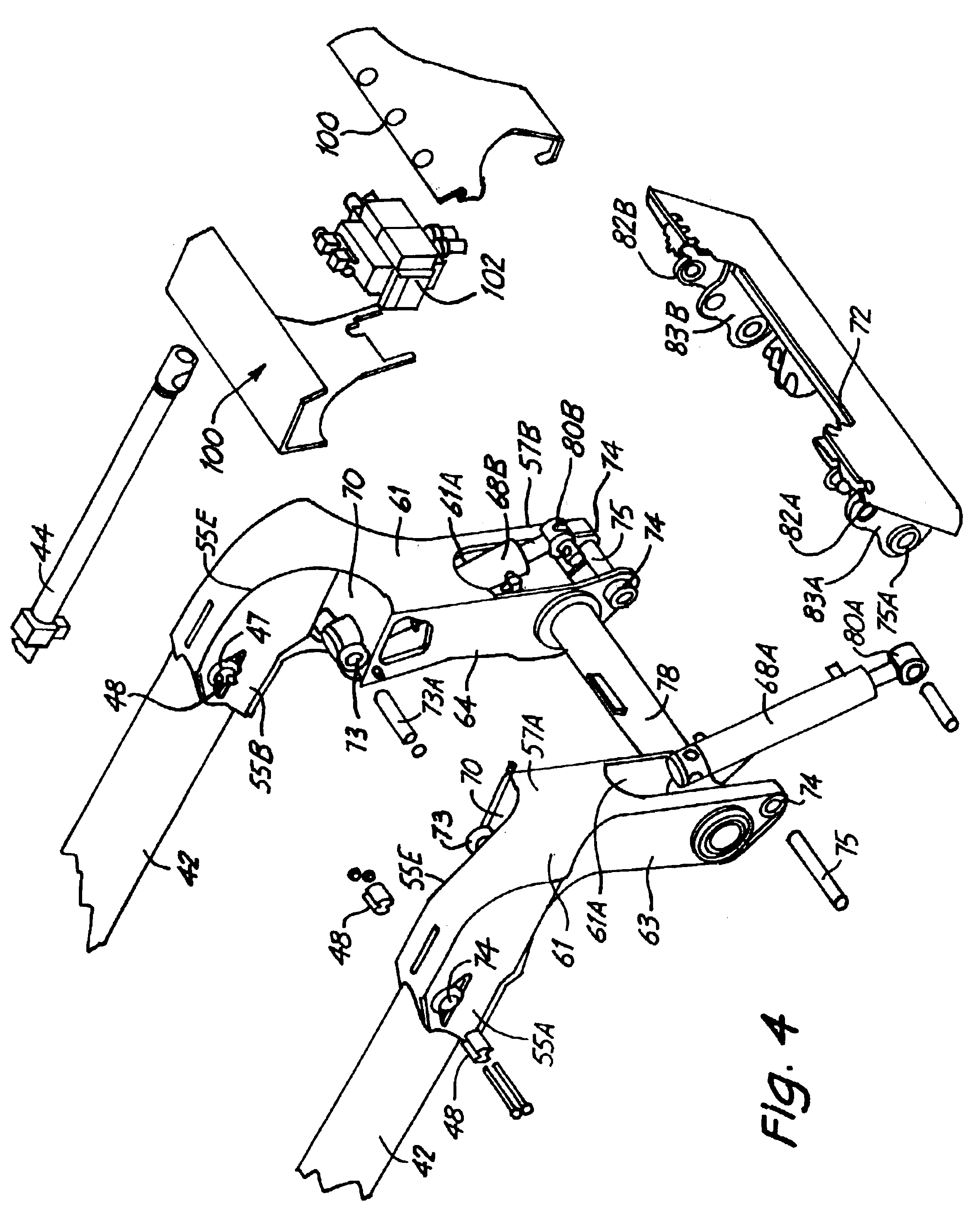 Drawing Arm Lifts : Patent us support frame structure for loader lift