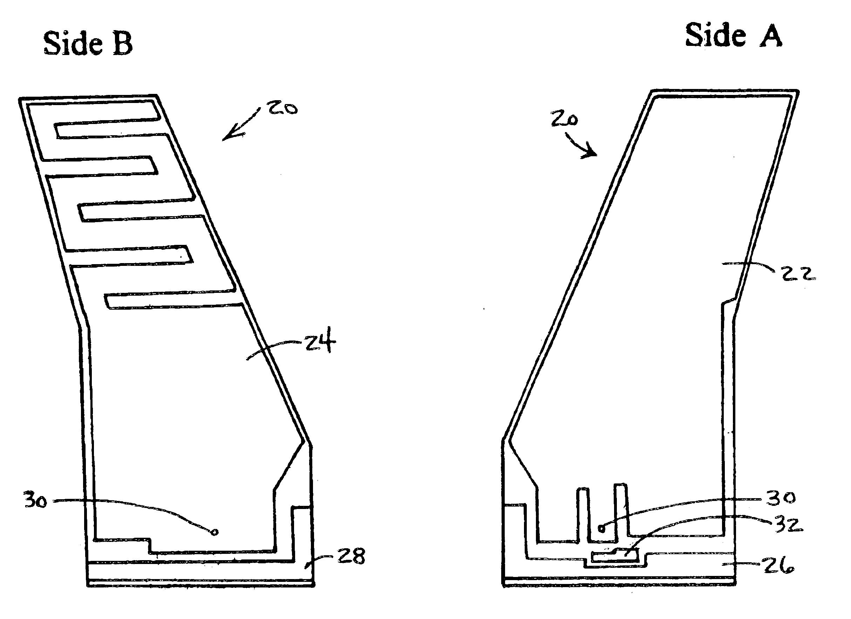 patent us6873296 - multi-band vehicular blade antenna