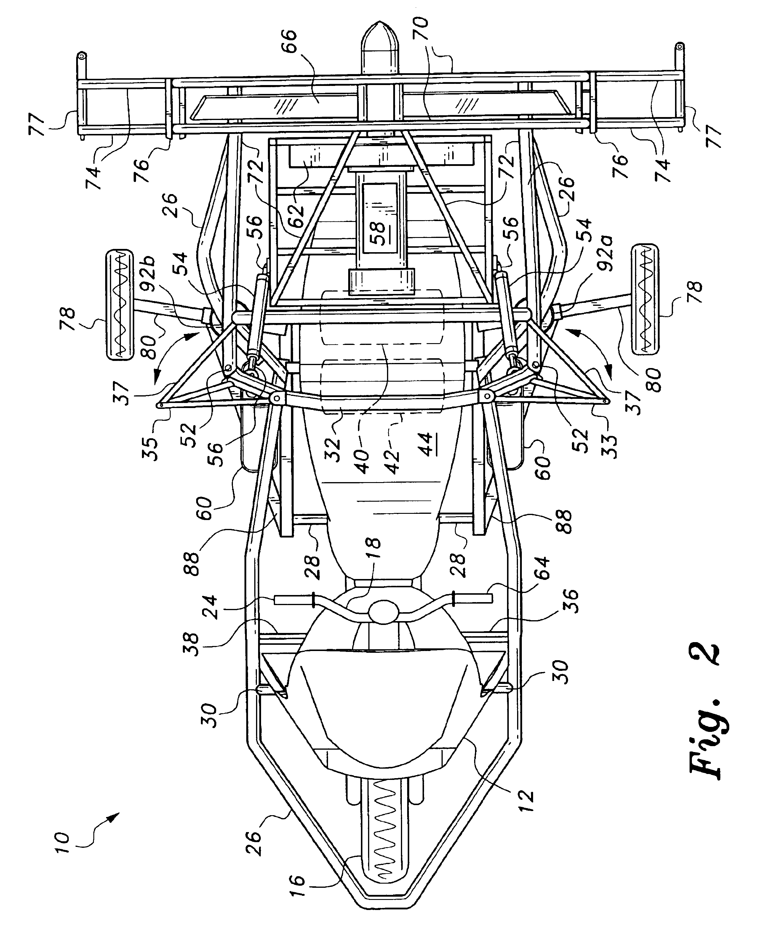 patent us6877690 - combination powered parachute and motorcycle