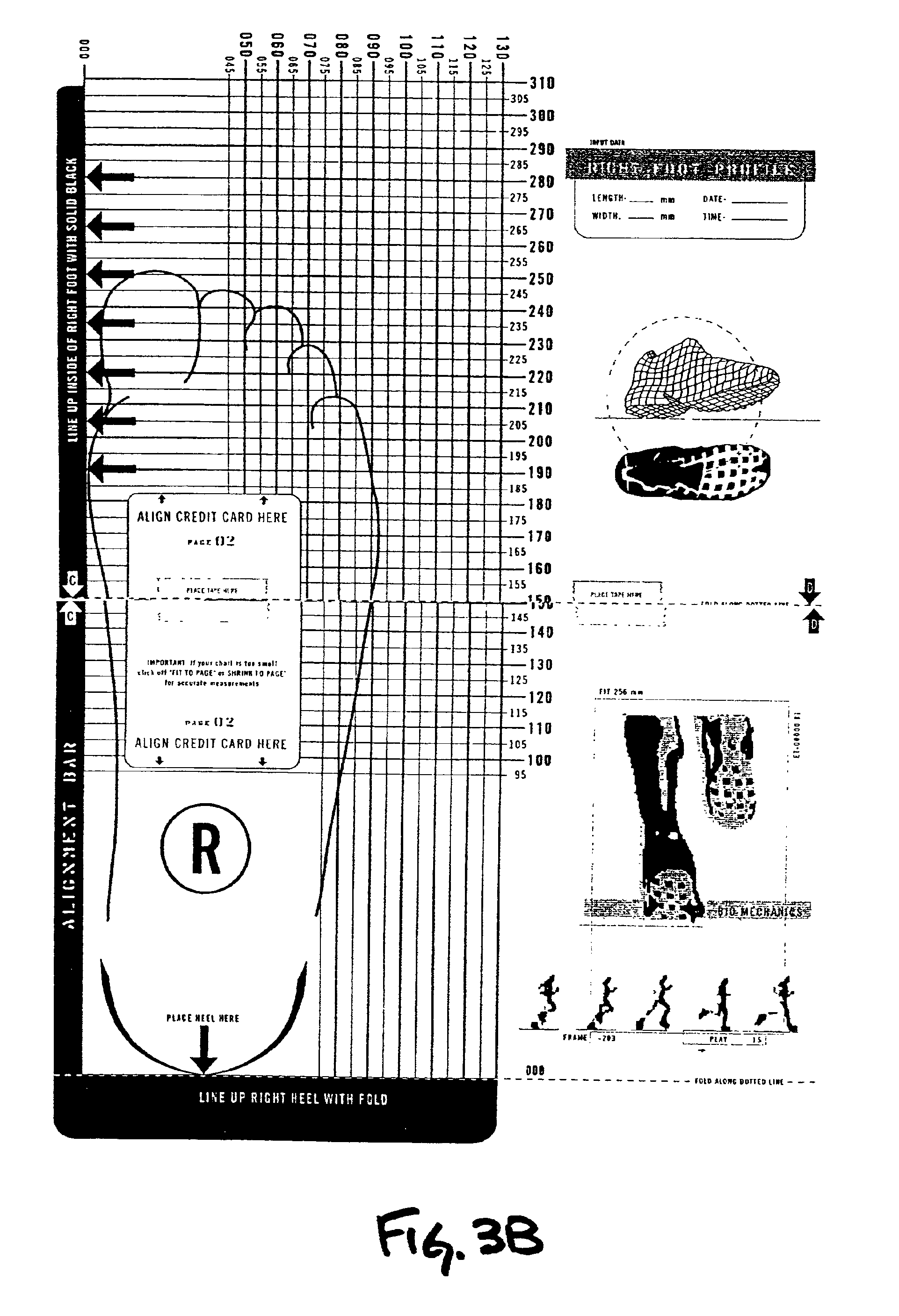 Patent US6879945 - System and method for sizing footwear over a ...