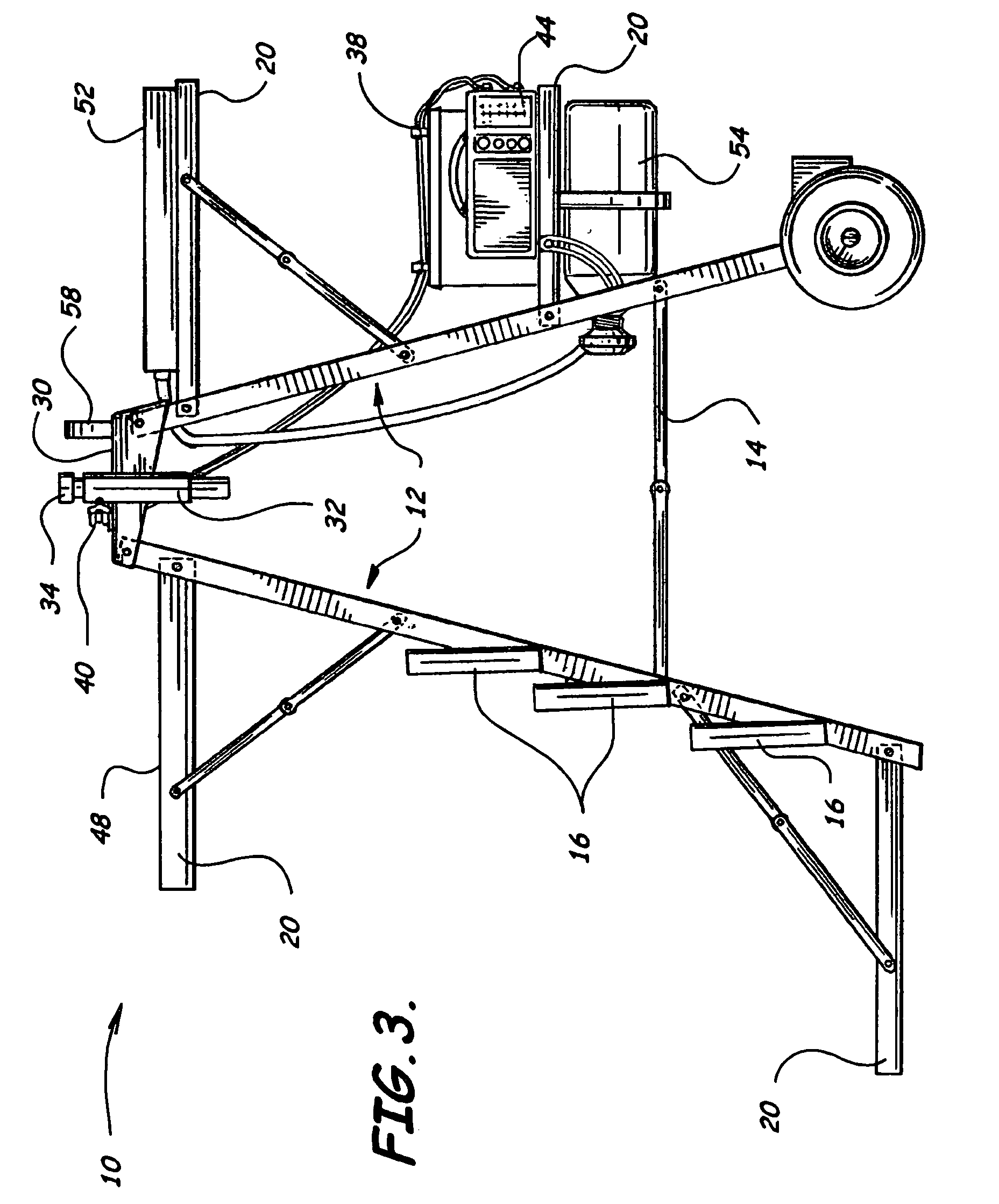 Patent us6883267 mobile fishing caddy google patenten for Fishing caddy bucket
