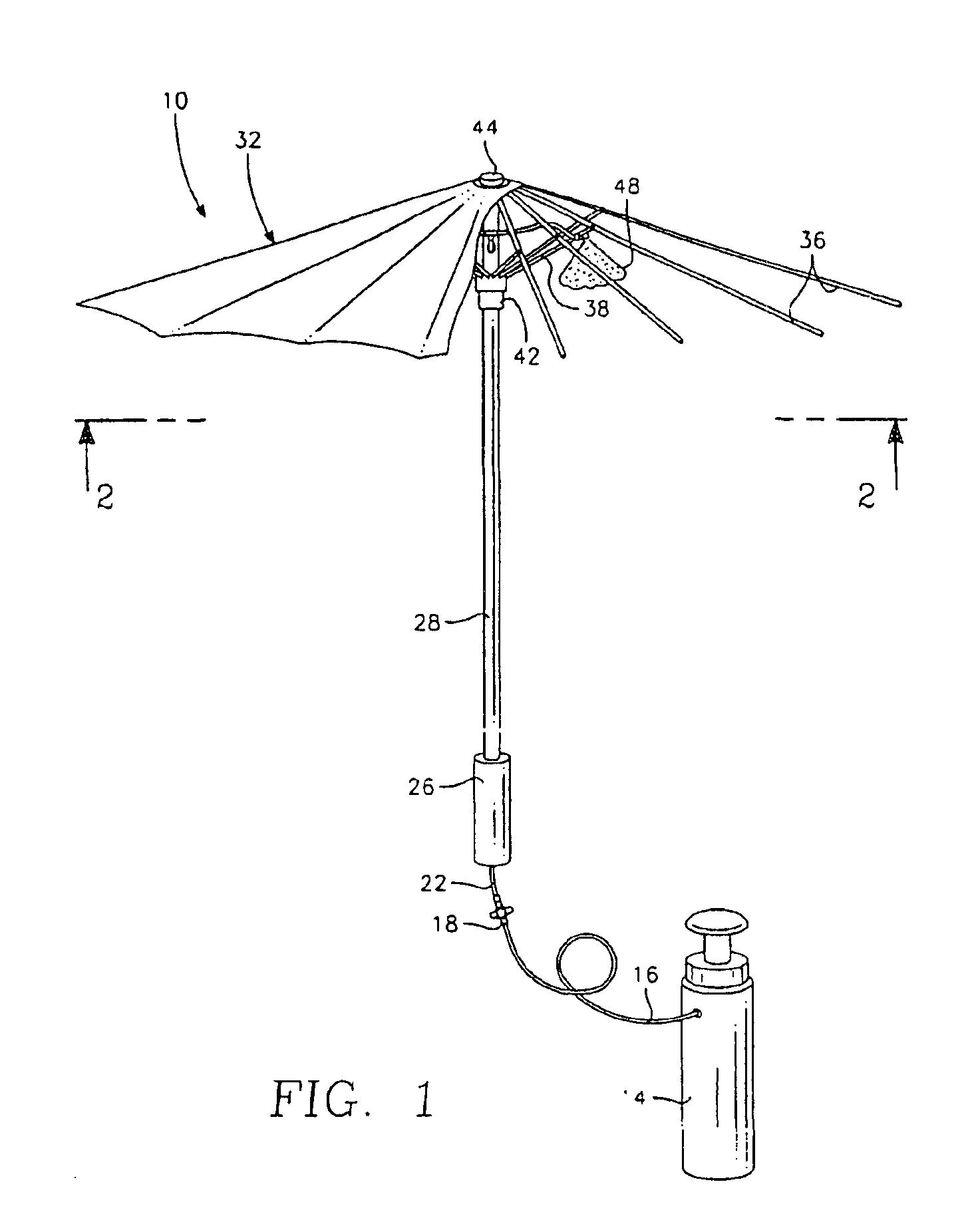 Patent Us6886759 Water Misting Umbrella Google Patents