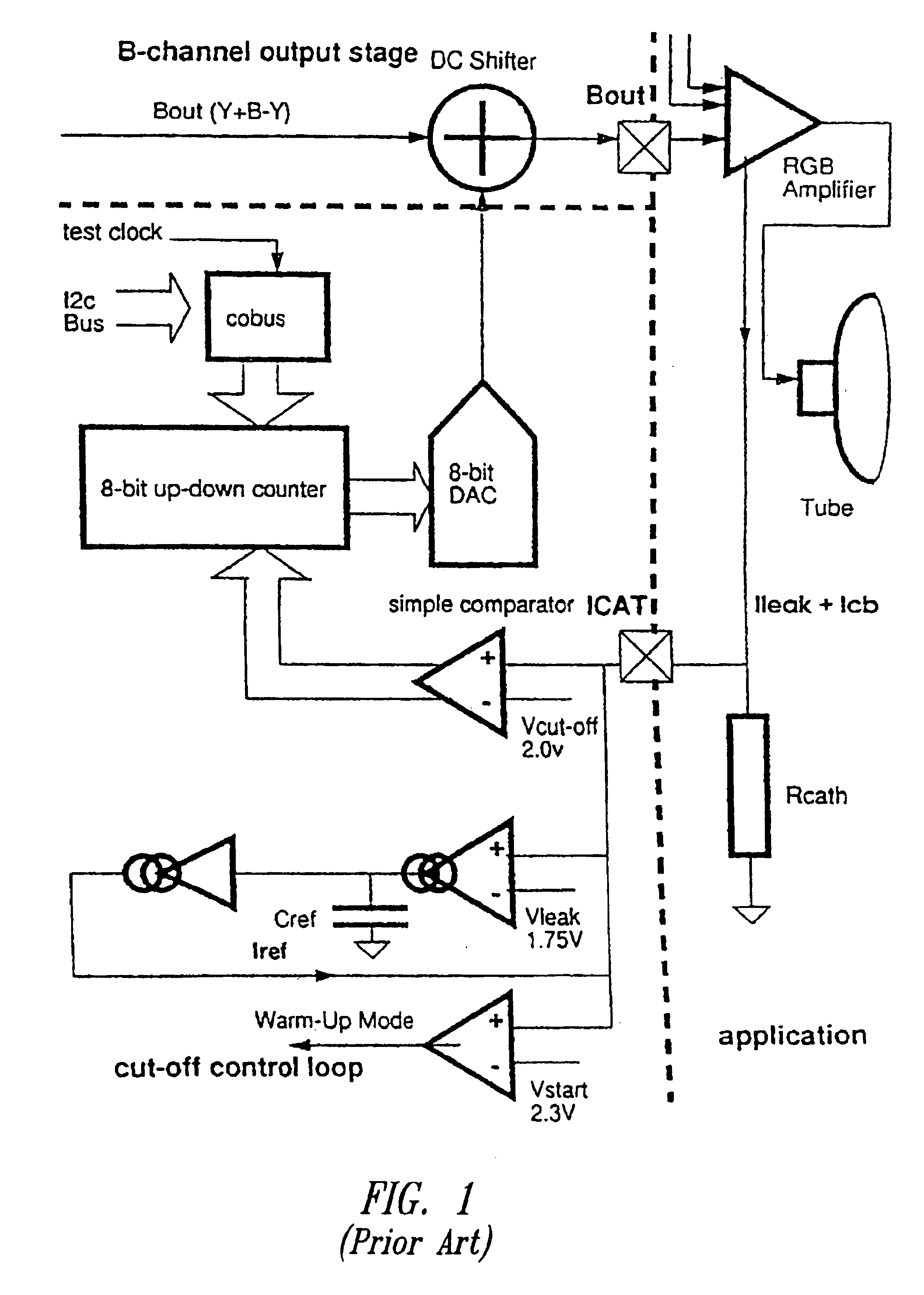 Patent Us6888575 Digital Cut Off Control Loop For Tv Using 8 Bit Comparator Circuit Diagram Drawing