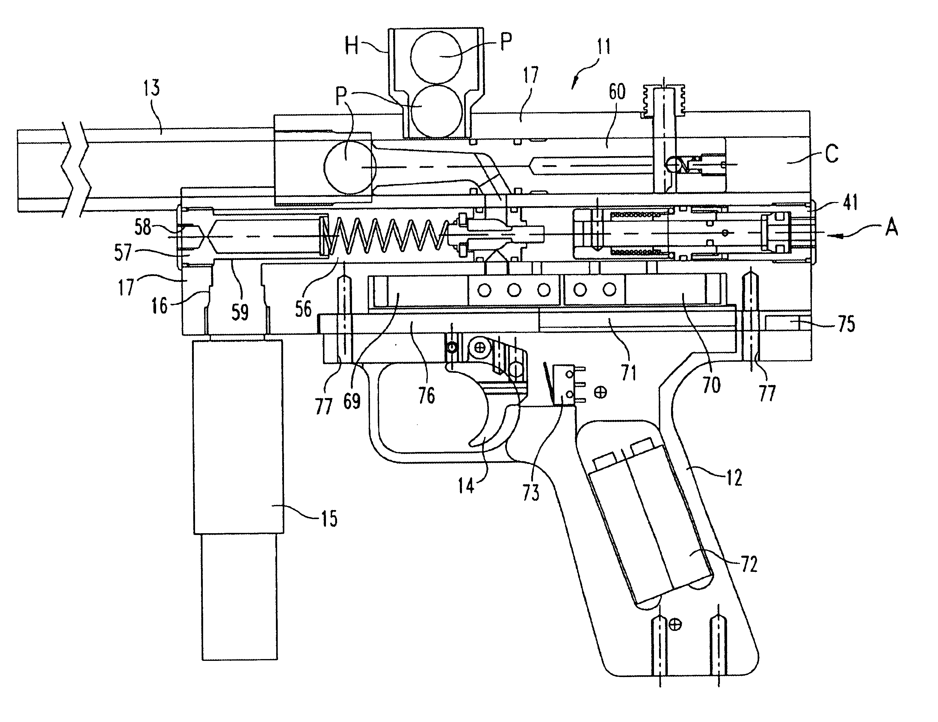 how to draw a simple paintball gun