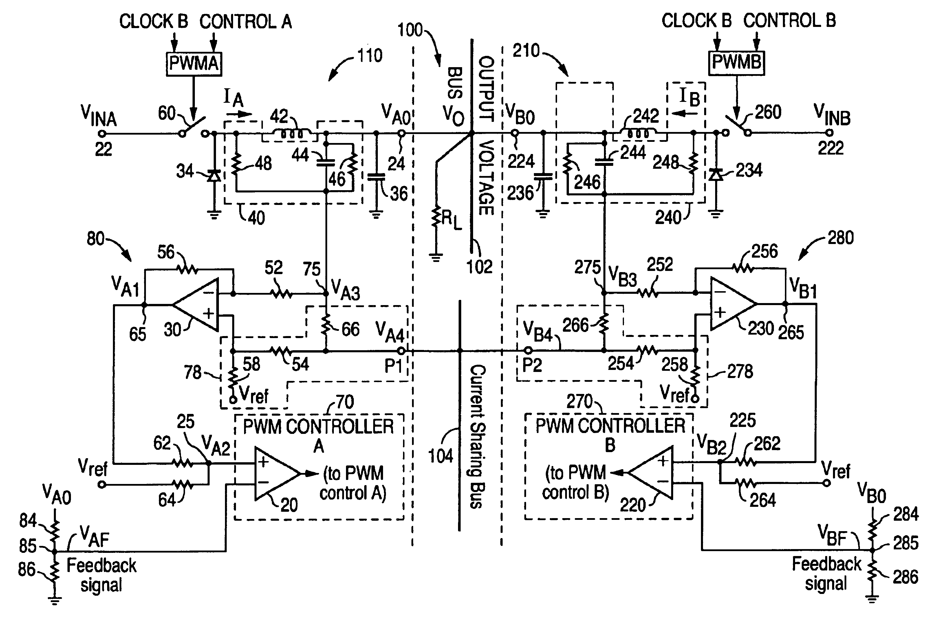 patent us6894466 - active current sharing circuit