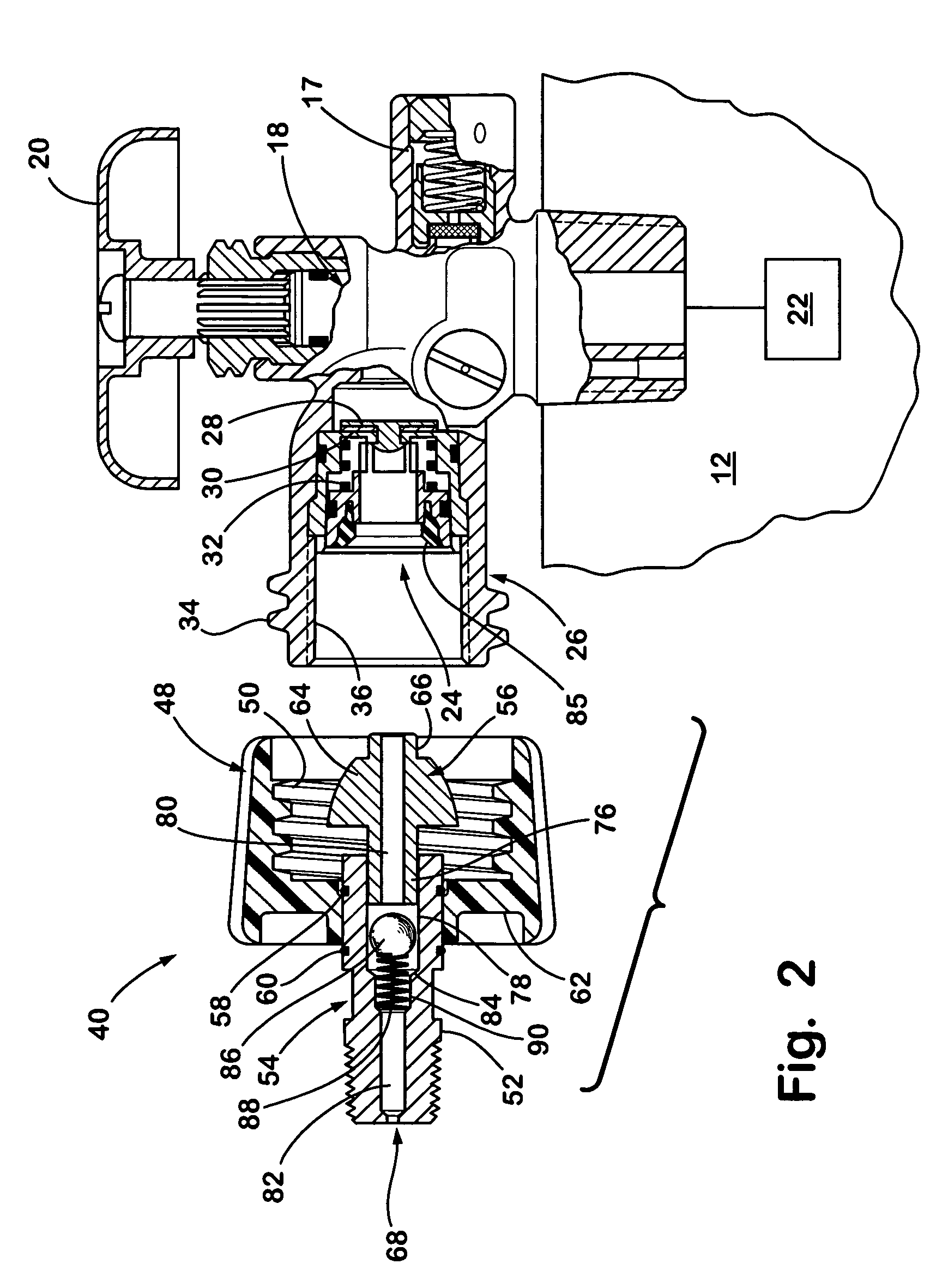 patent us6895952 - appliance end fitting