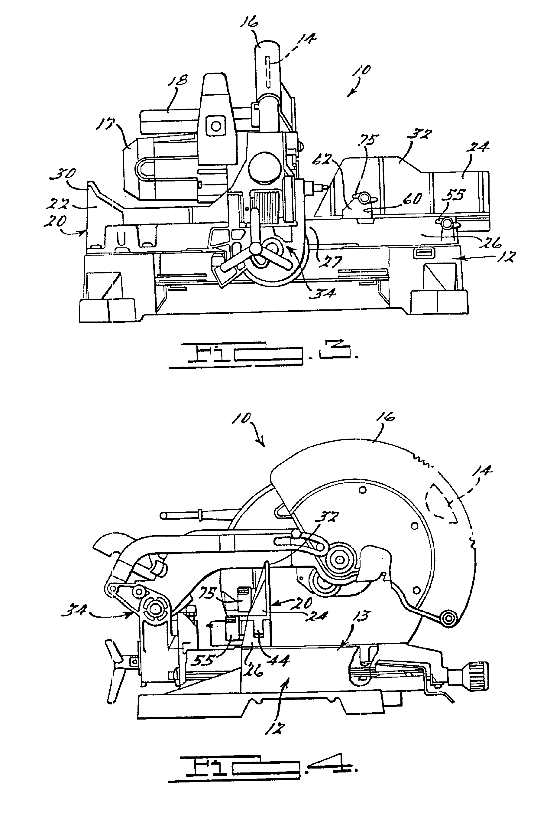 Patent us6899005 adjustable fence for compound miter saw patent drawing greentooth Image collections