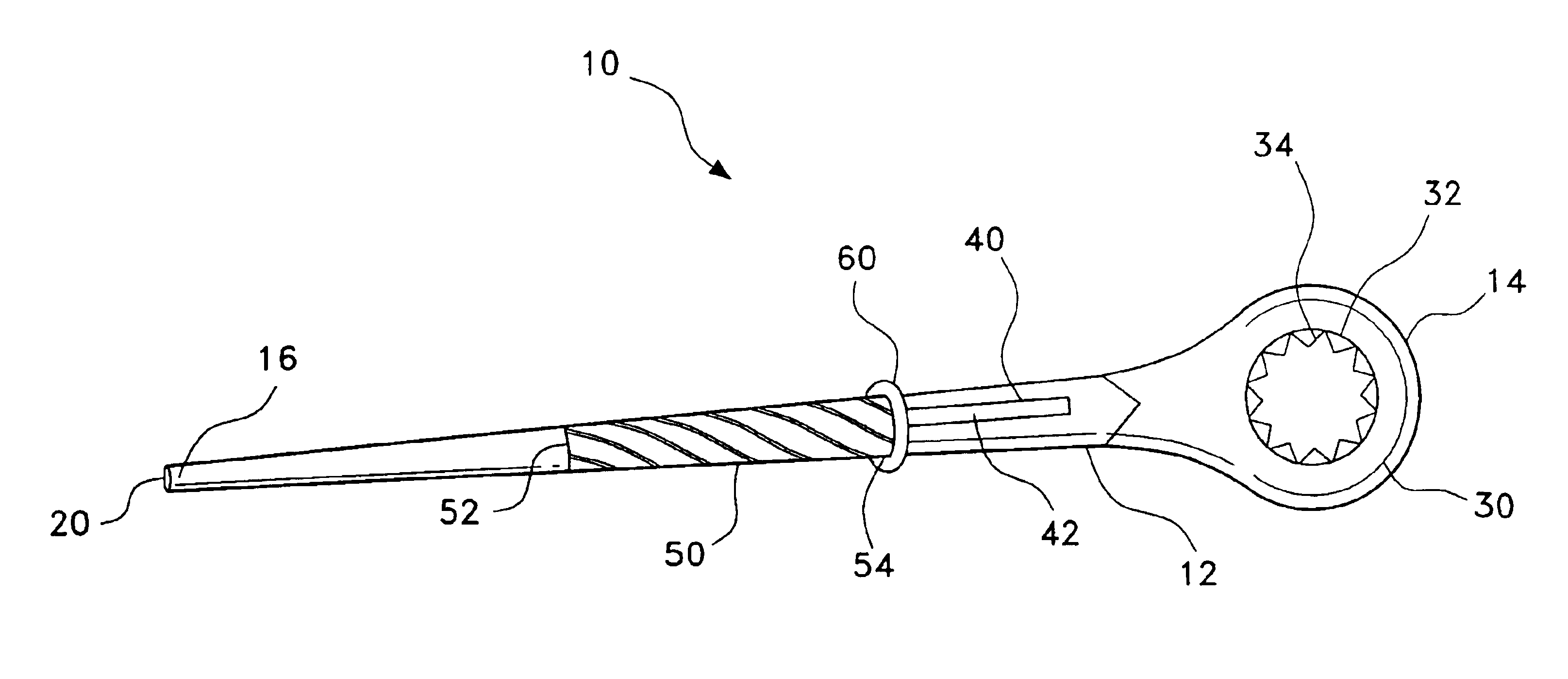 spud wrench drawing. patent drawing spud wrench r