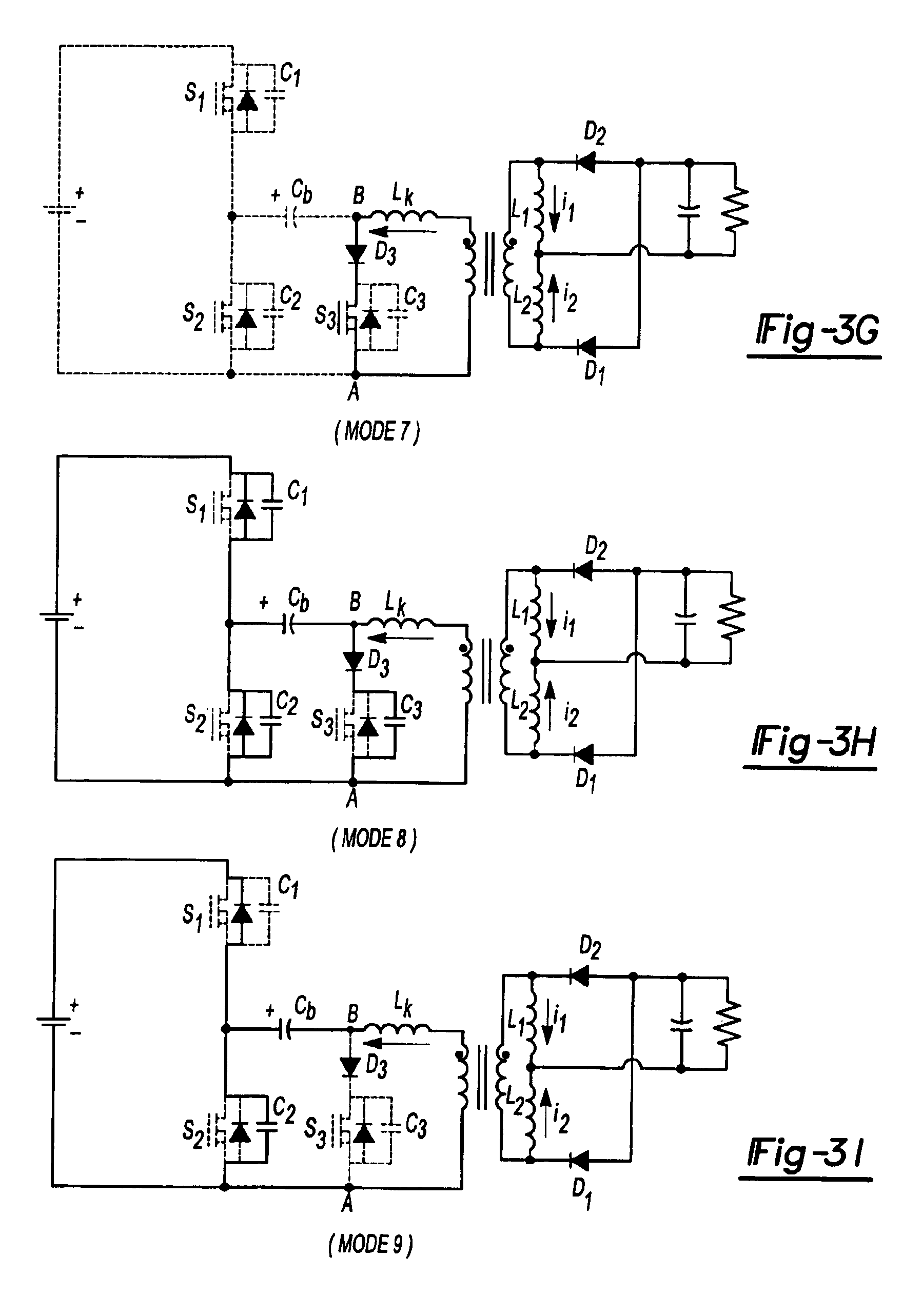 Patent Us6906931 Zero Voltage Switching Half Bridge Dc Part Of A Circuit Shows Bridges With Centre Tapped Windings Drawing